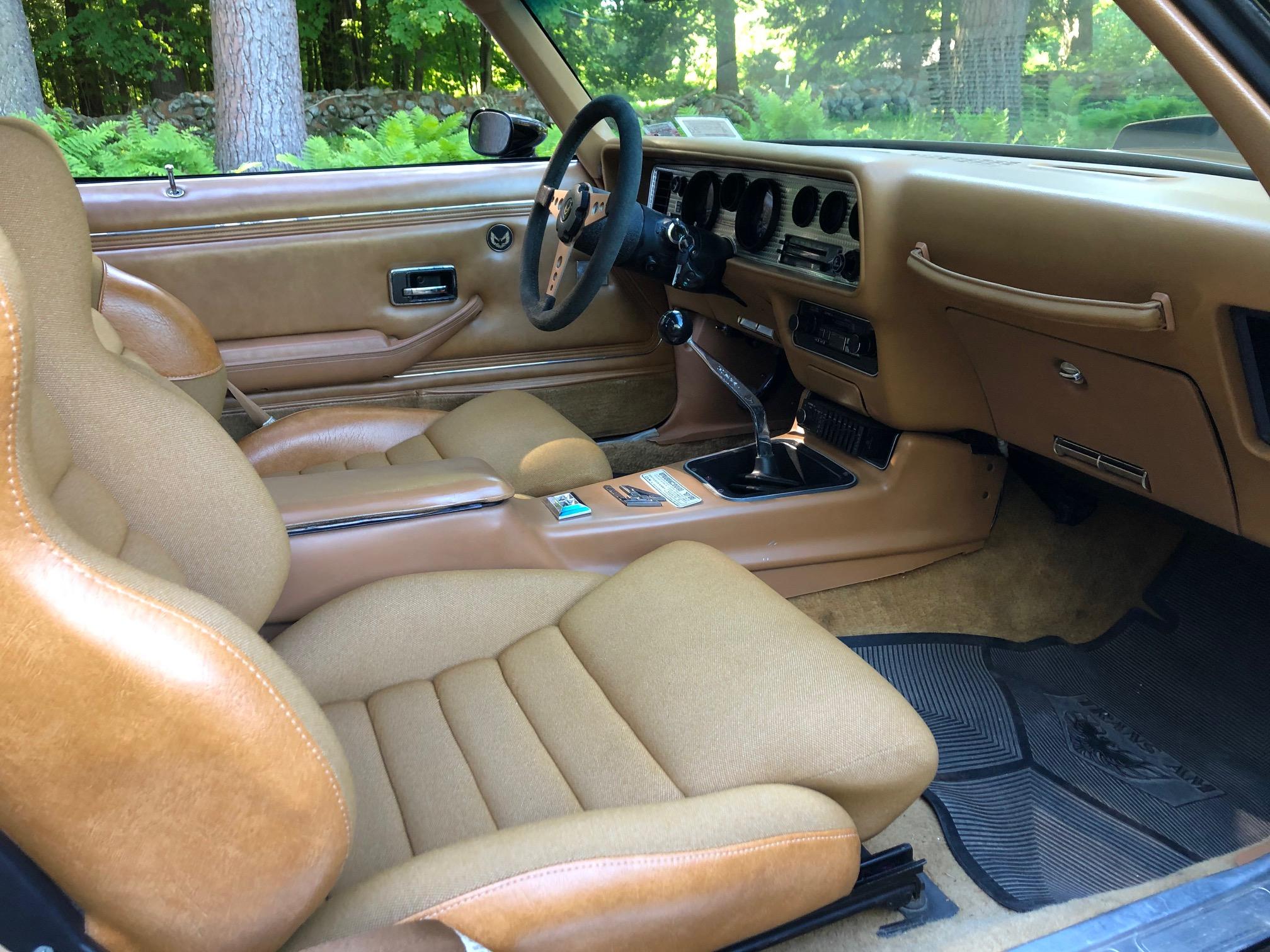 1978 Pontiac DKM Macho Trans Am interior front angle