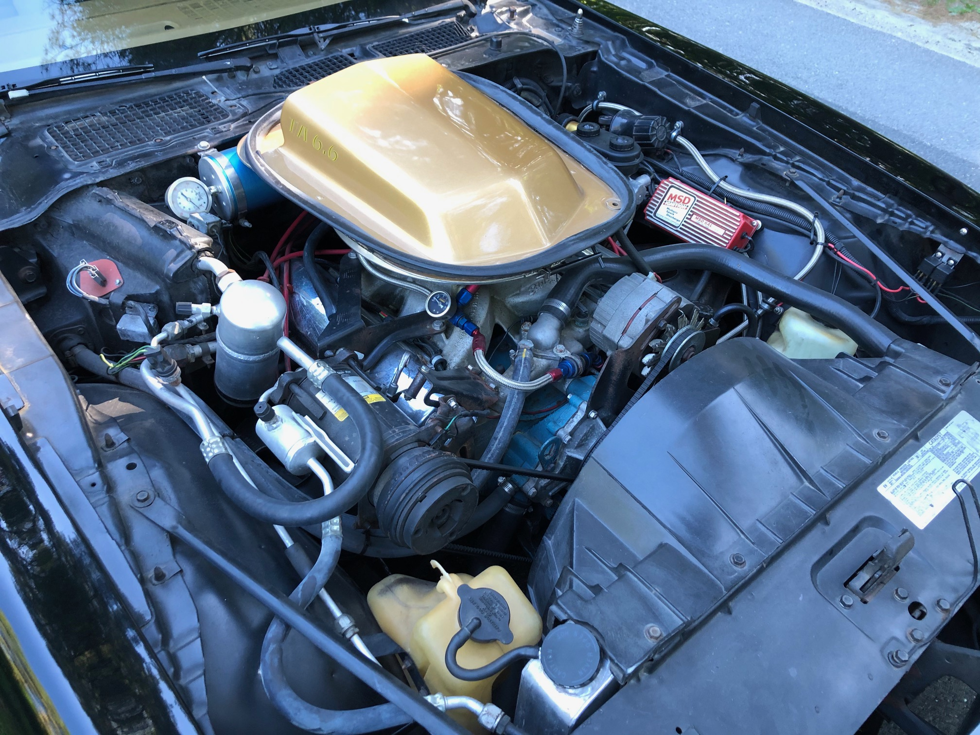 1978 Pontiac DKM Macho Trans Am engine angle