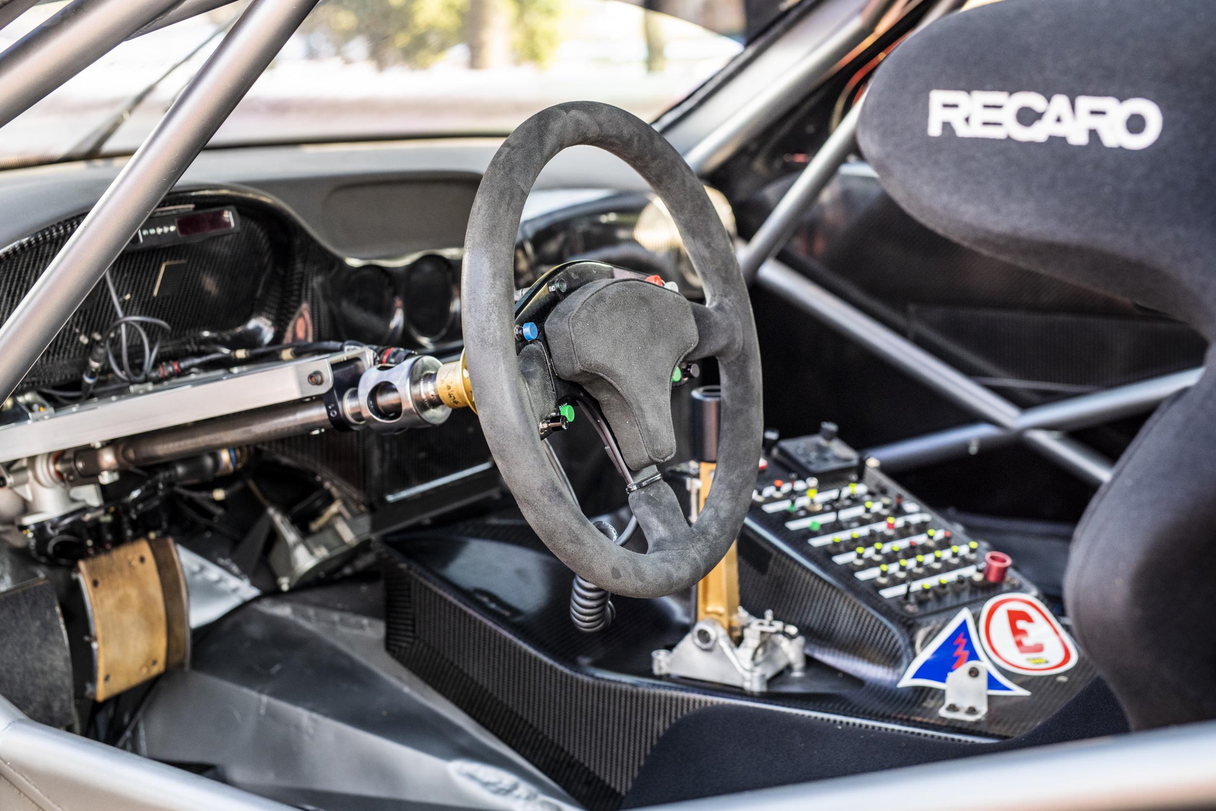 2001 Ferrari 550 GT1 Prodrive interior cockpit wheel