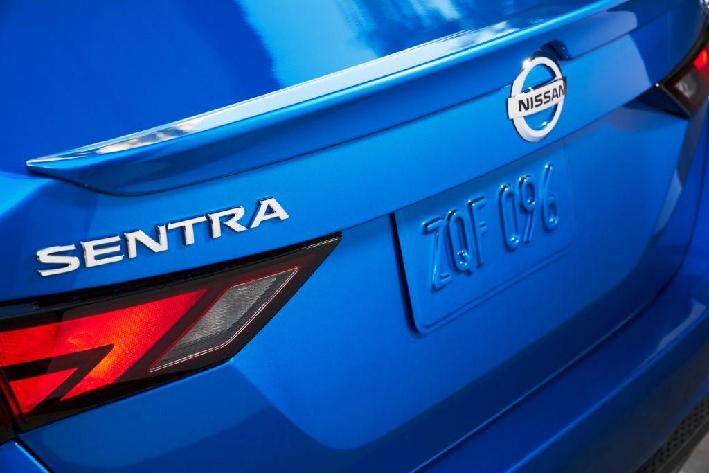 2019 Nissan Sentra Rear Close Badging