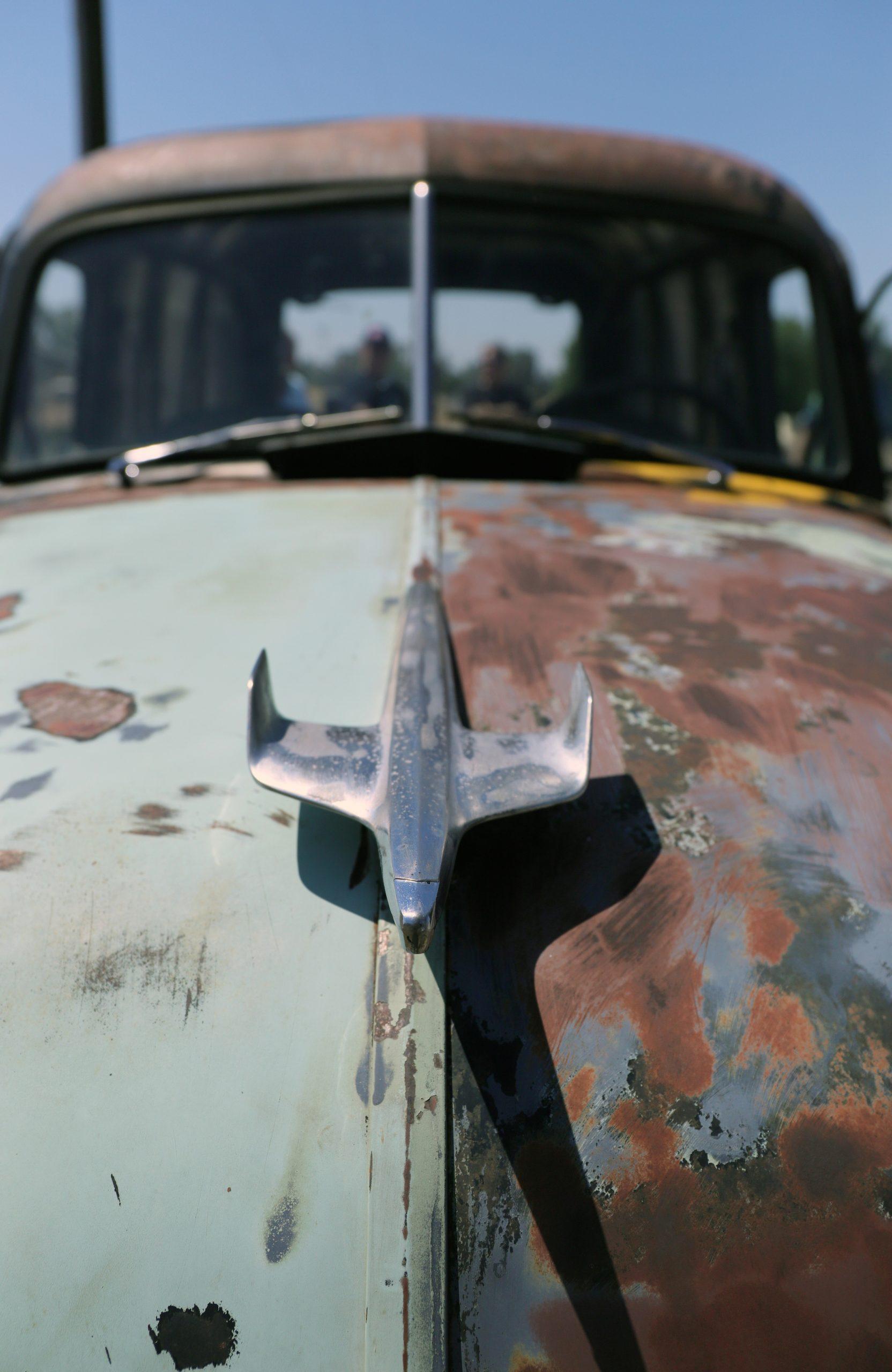 1953 GMC 100 Panel Truck Ugly hood ornament