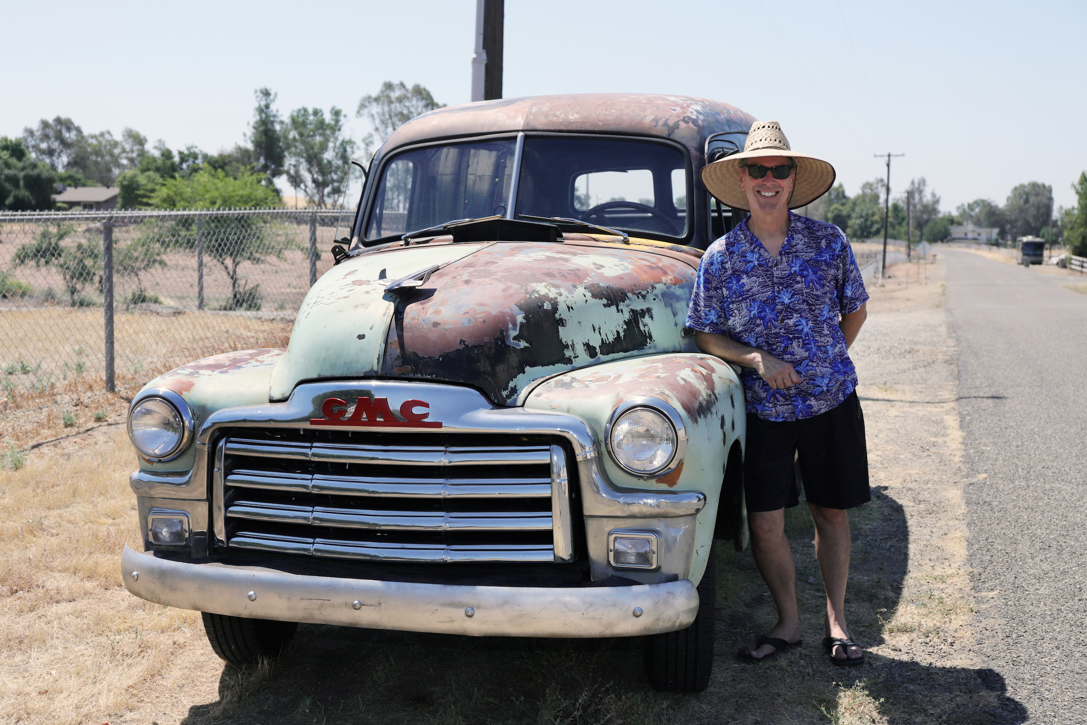 2020-07-181953 GMC 100 Panel Truck Ugly owner Nick Dounias patina owner