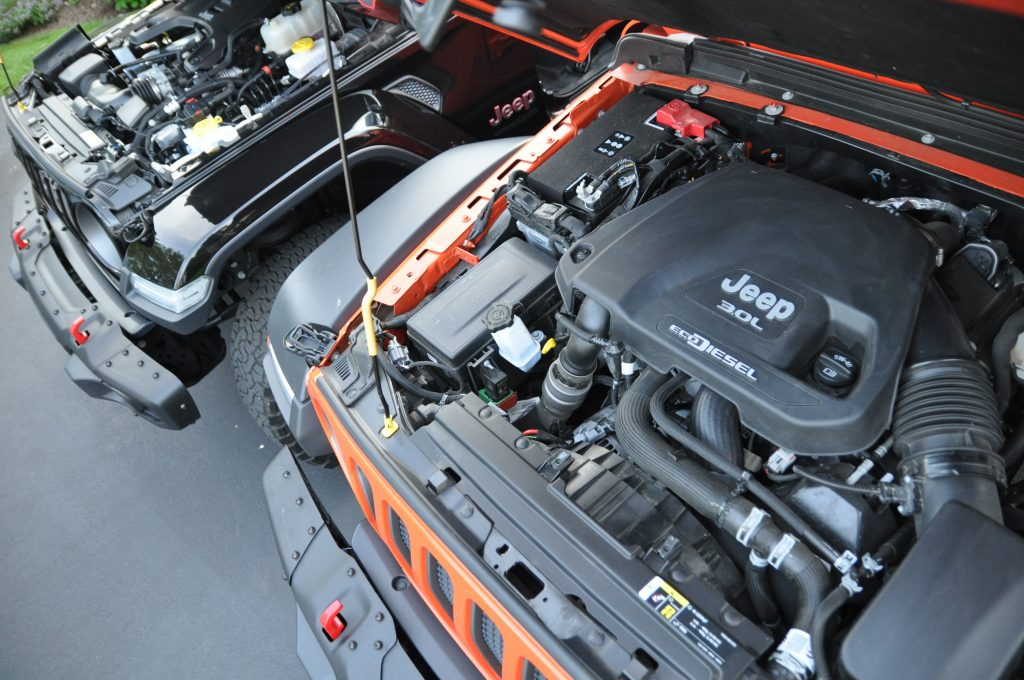 2020 jeep wrangler ecodiesel engine gasoline engine comparo