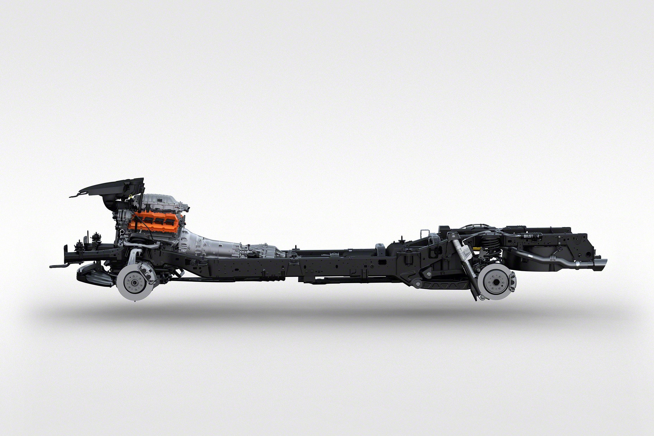 2021 Ram 1500 TRX chassis with brakes