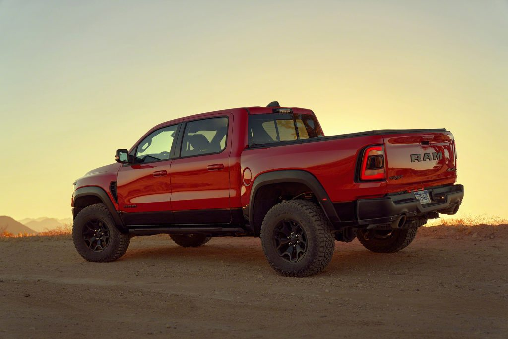 2021 Ram 1500 TRX rear 3/4
