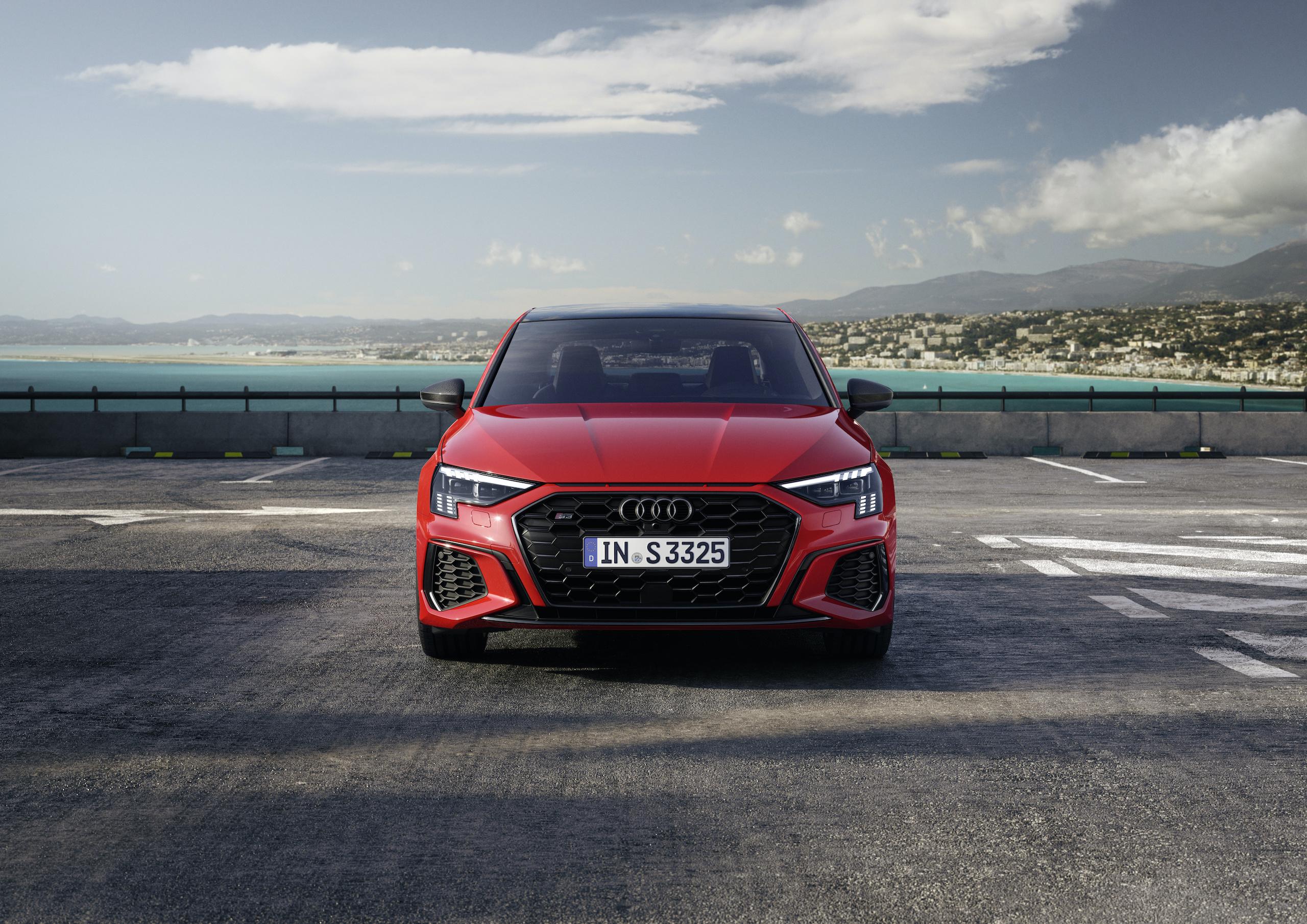 Audi S3 Sedan tango red front