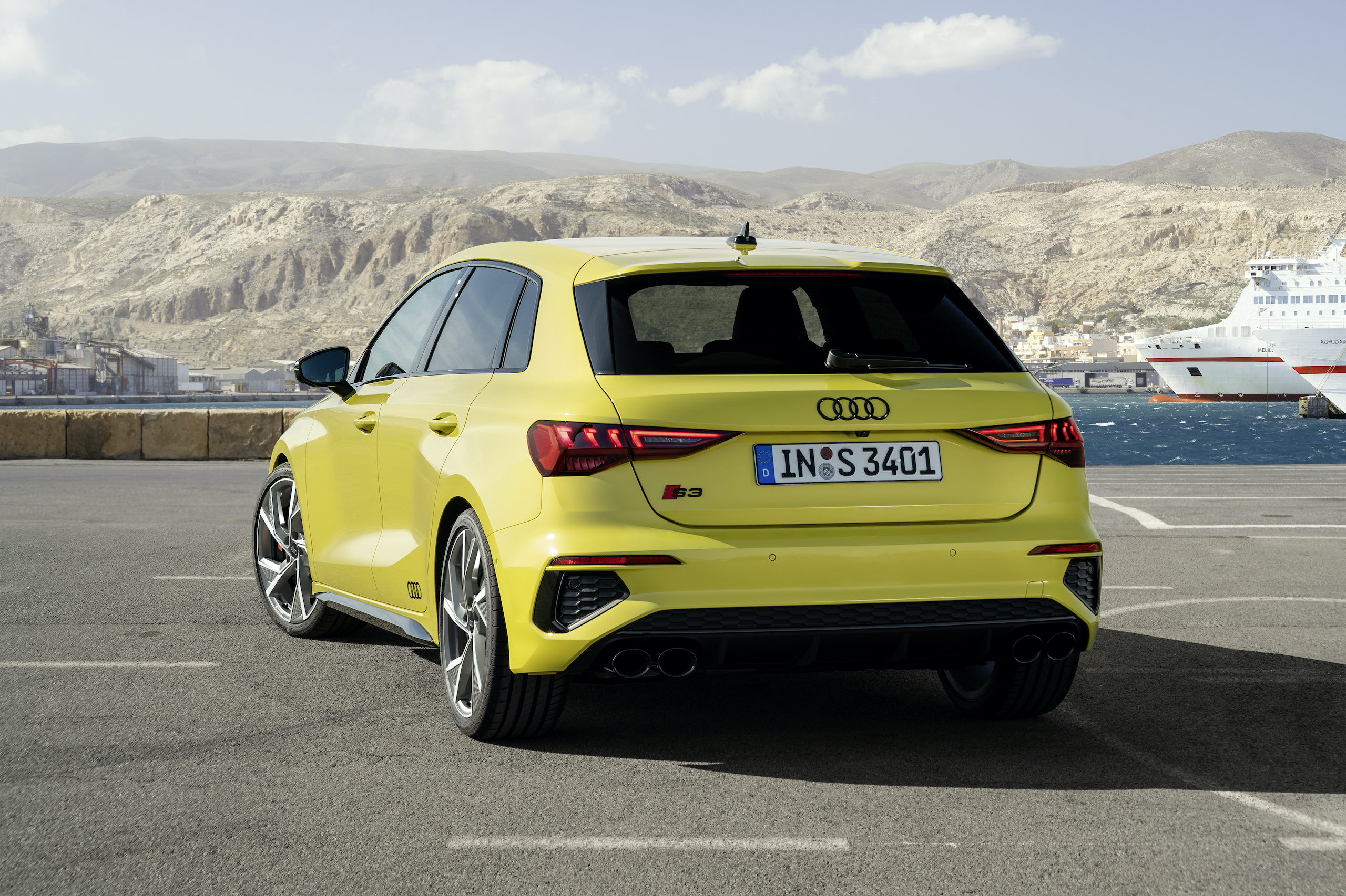Audi S3 Sportback python yellow rear