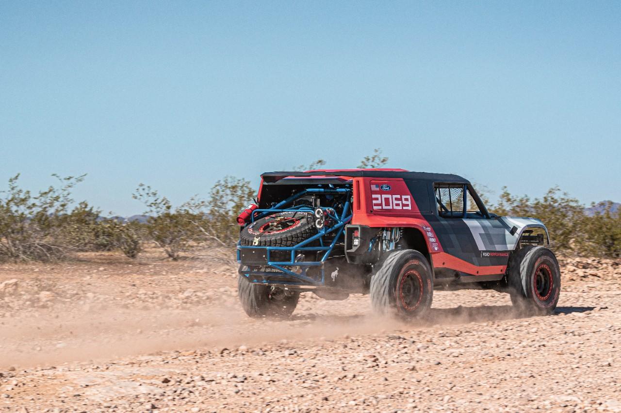 Ford Bronco R prototype rear desert