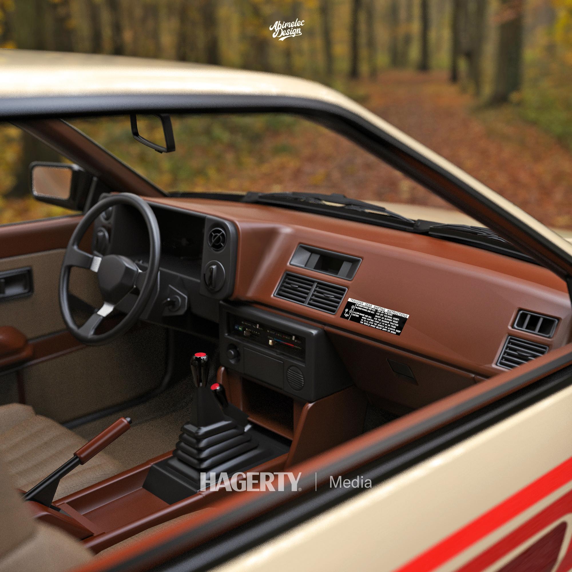 4x4 Corolla render interior