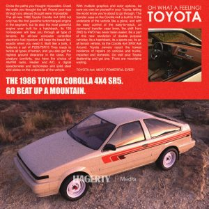 4x4 Corolla render ad mock up