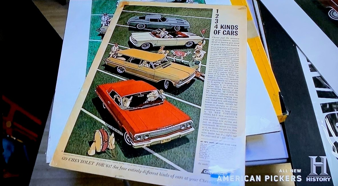 American Pickers - John Mills 4 - 1963 Chevrolet ad 1