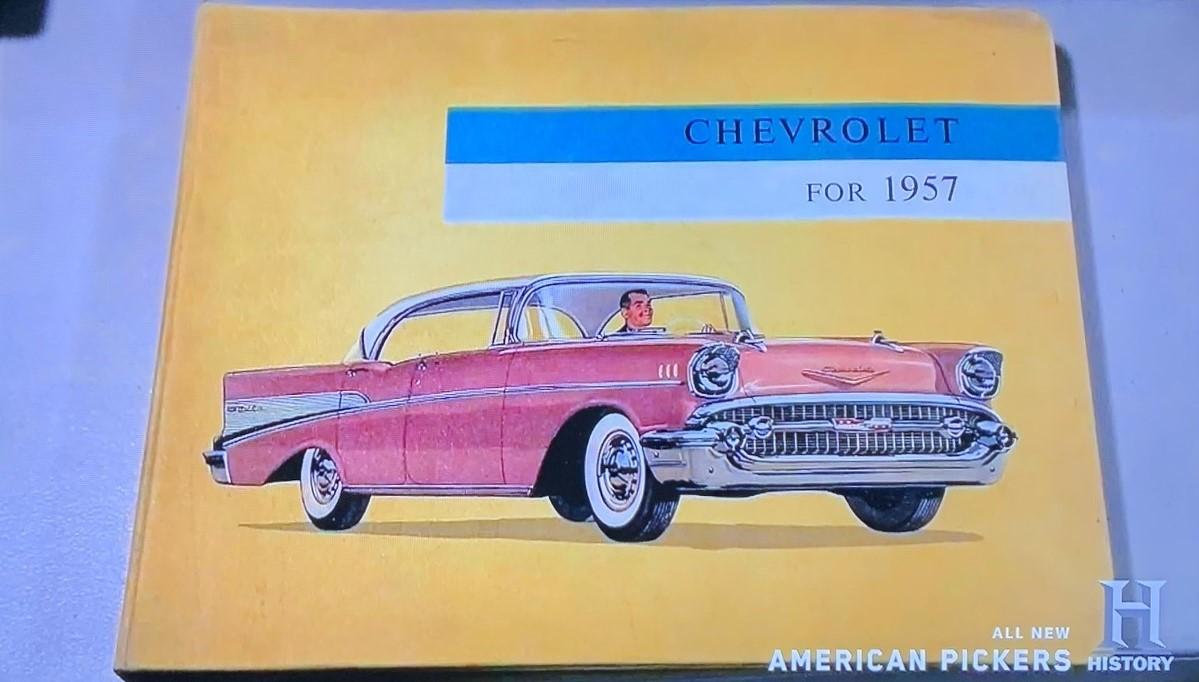 American Pickers - John Mills 7 - 1957 Chevy sales book