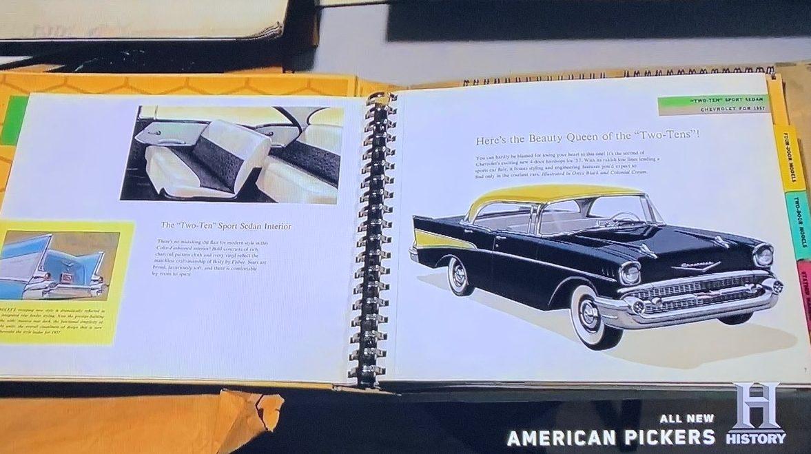 American Pickers - John Mills 8 - Chevy sales book
