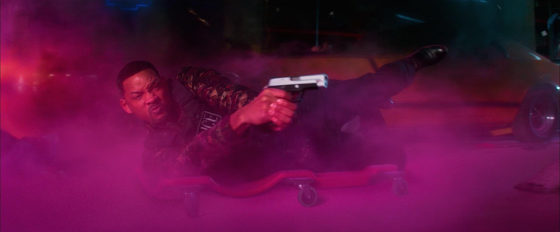 Bad Boys For Life will smith sliding on creeper gun drawn
