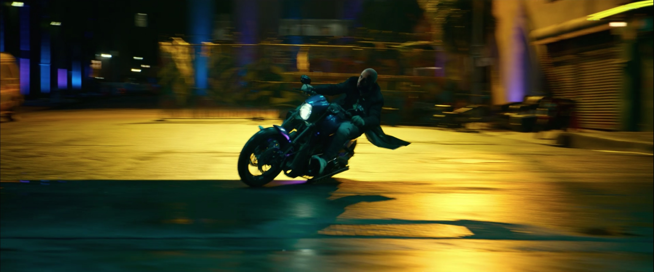 Bad Boys For Life motorcycle rider powerslide dynamic road action