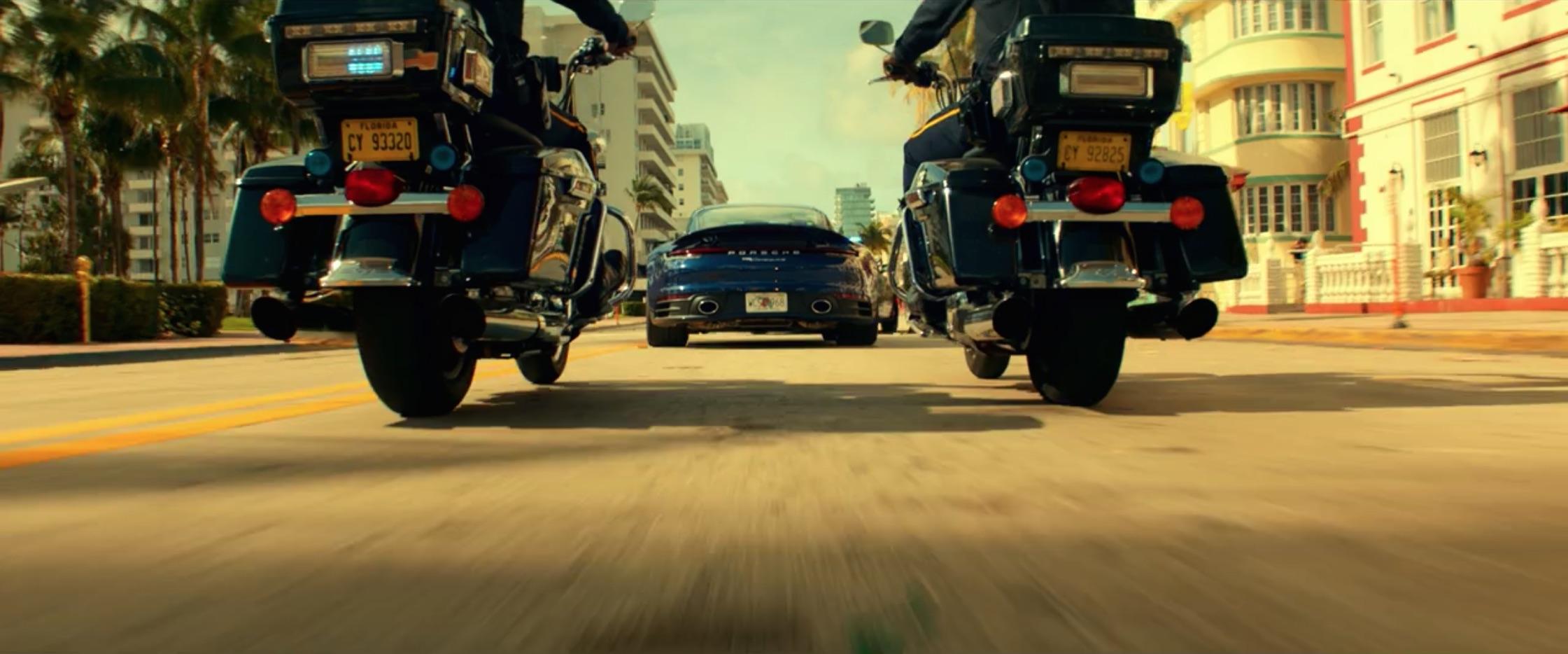 Bad Boys For Life porsche dynamic street action rear bike police behind