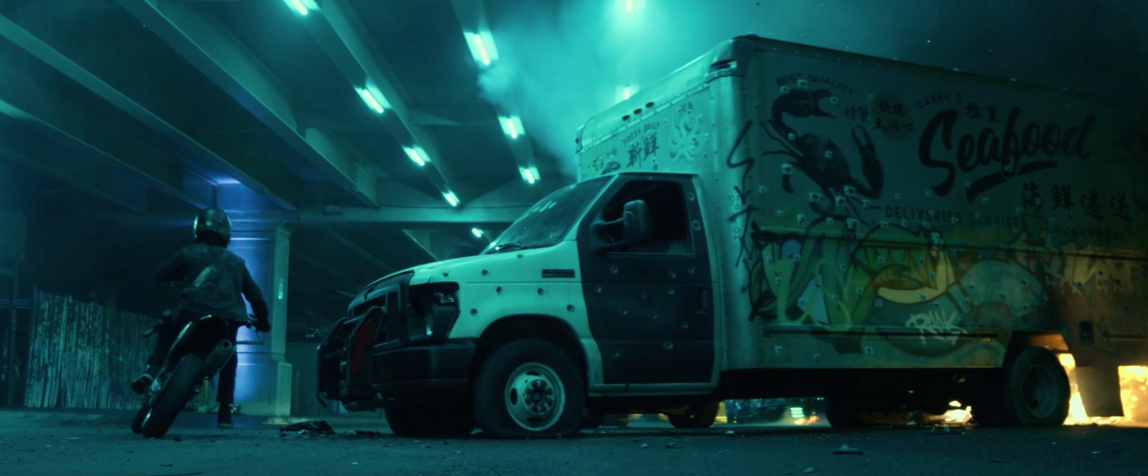 Bad Boys For Life box truck bullet holes shootout