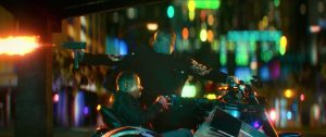 Bad Boys For Life will smith shooting uzi behind motorcycle