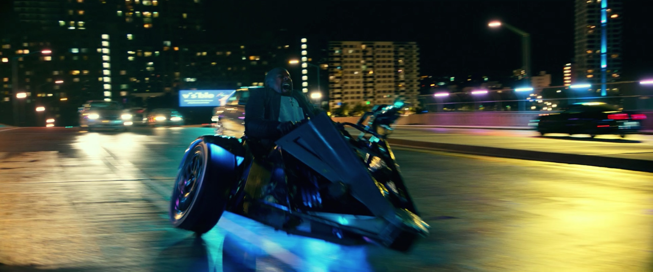 Bad Boys For Life side car action scene