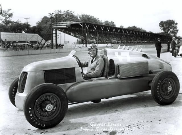 Bailey in The Gulf-Miller Car 1939 Indianapolis Motor Speedway Indy 500