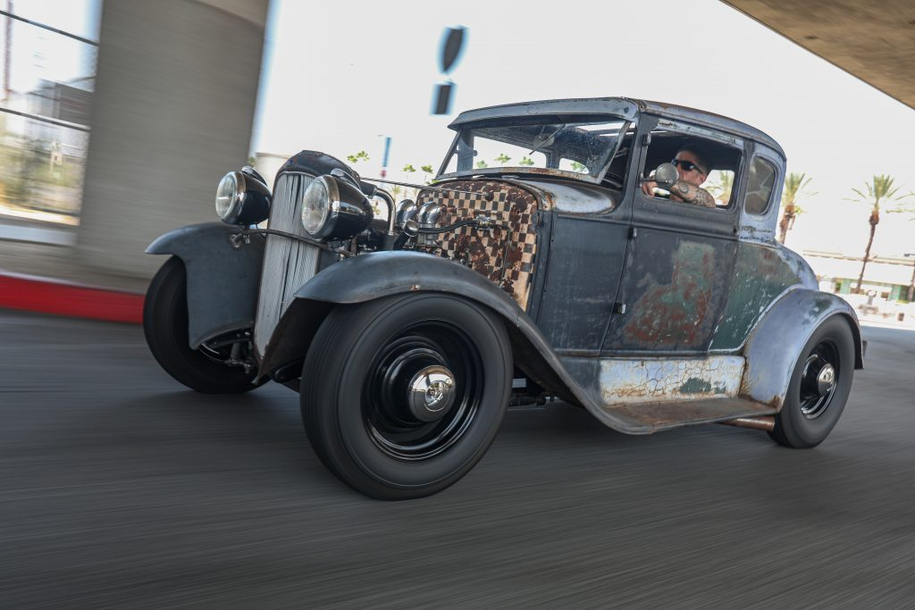 Andy Bedlam Model A coupe flathead driving