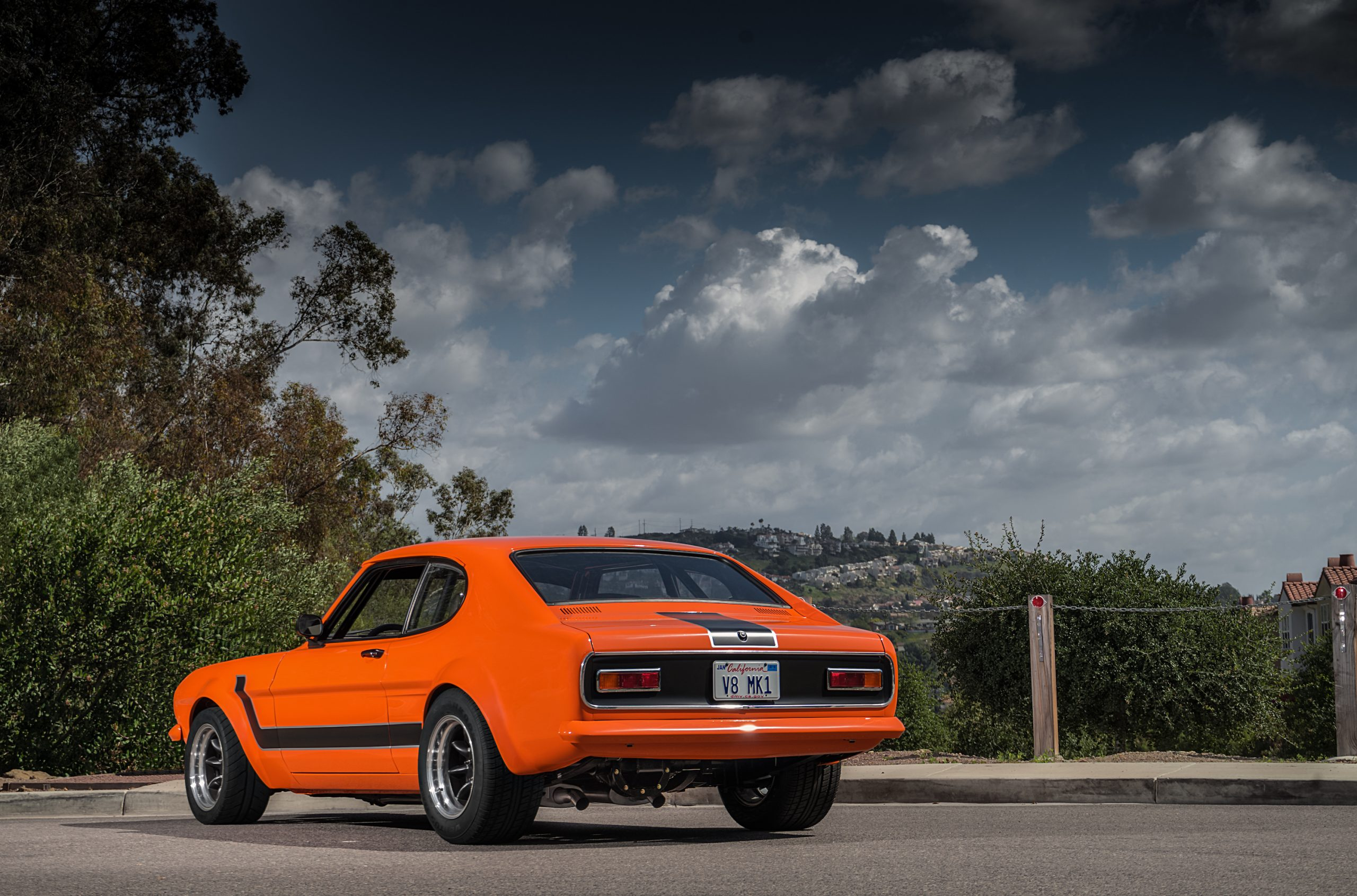1974 Mk I Ford Capri restomod rear three-quarter