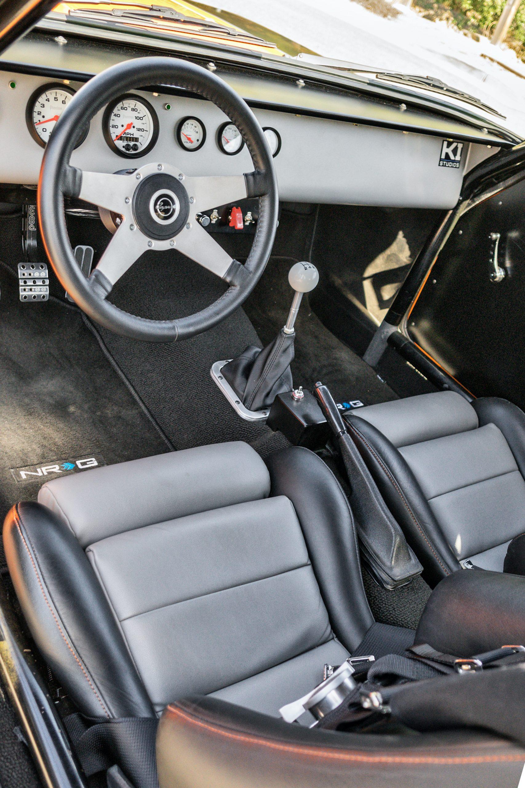 1974 Mk I Ford Capri restomod interior cockpit