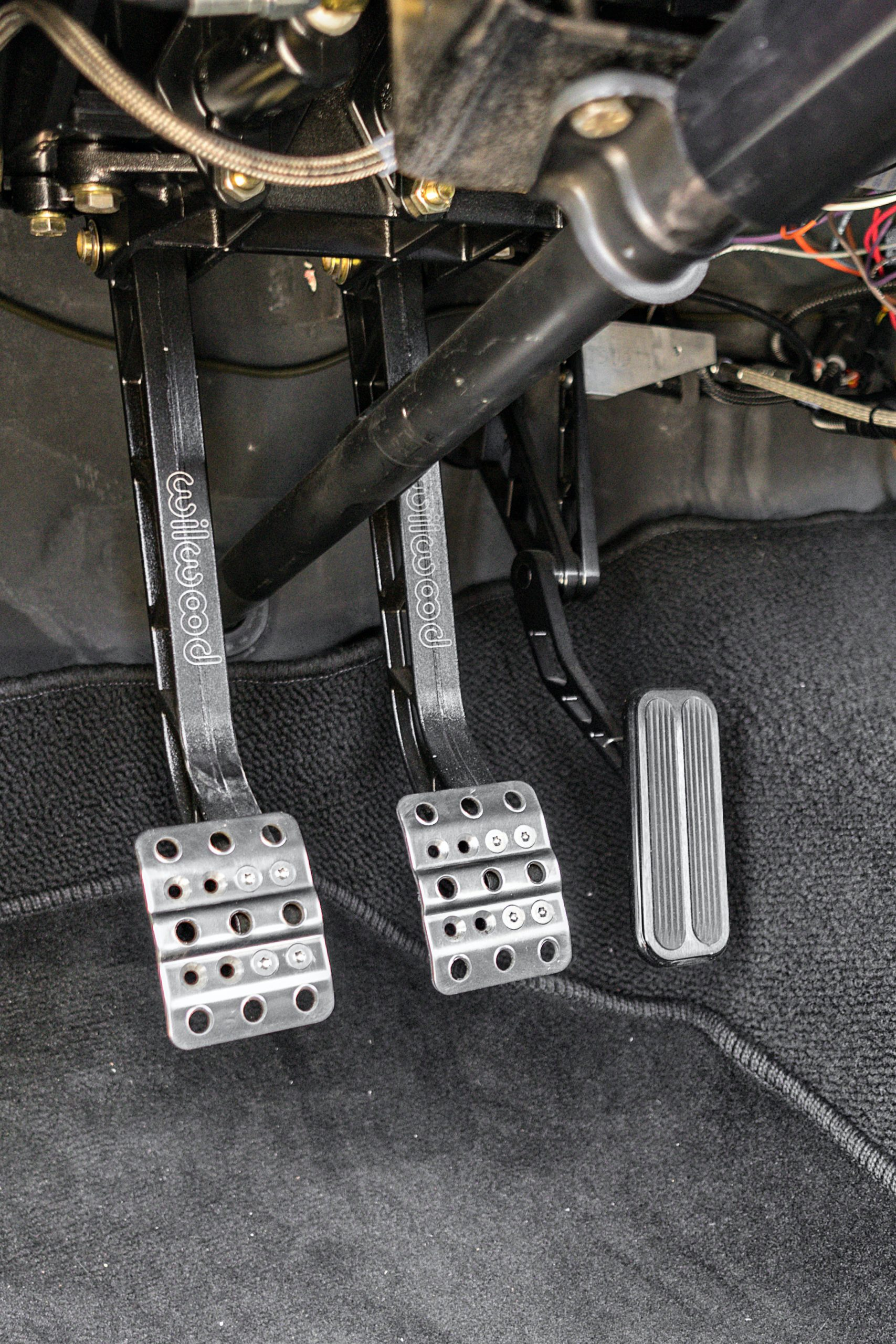 1974 Mk I Ford Capri restomod interior foot pedals