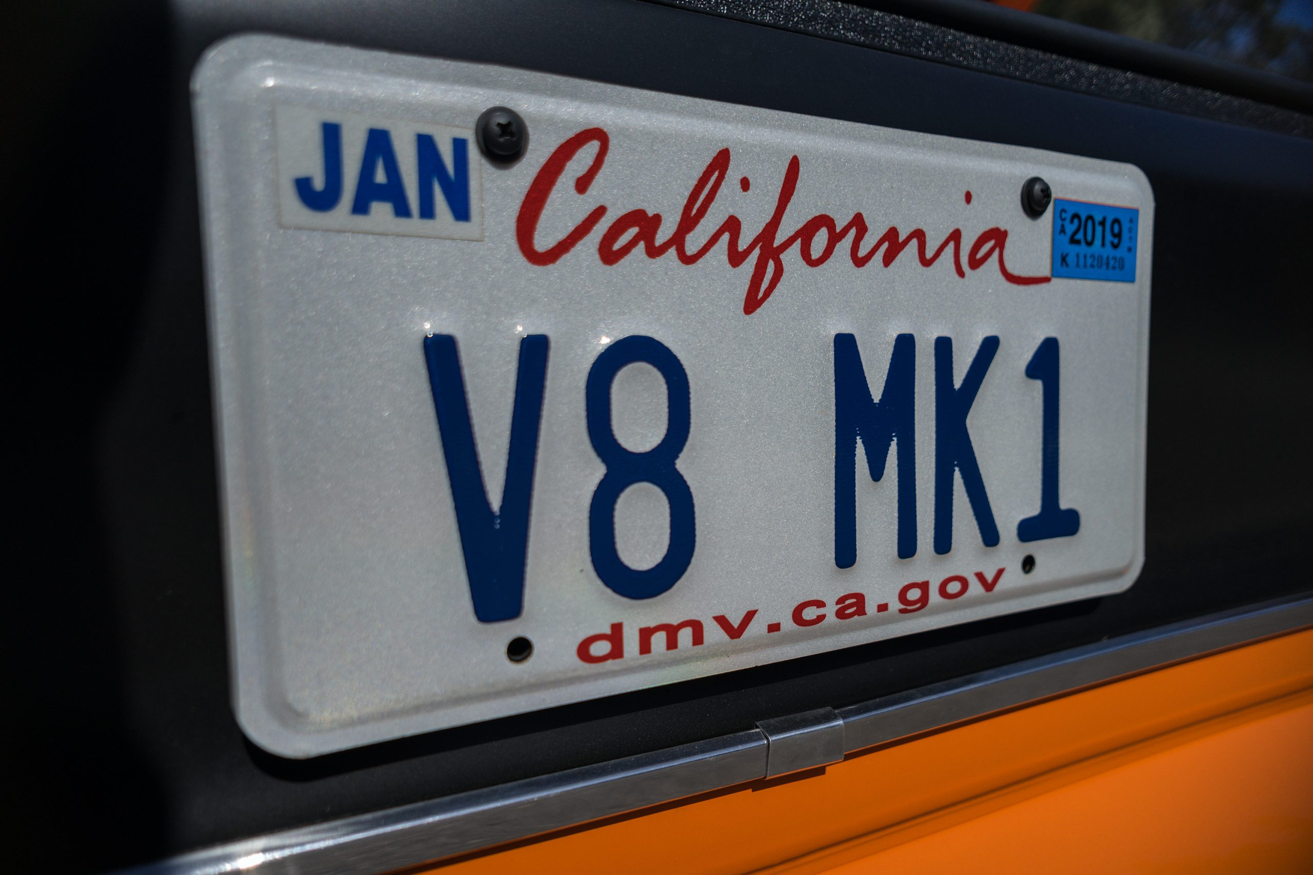 1974 Mk I Ford Capri restomod california vanity plate