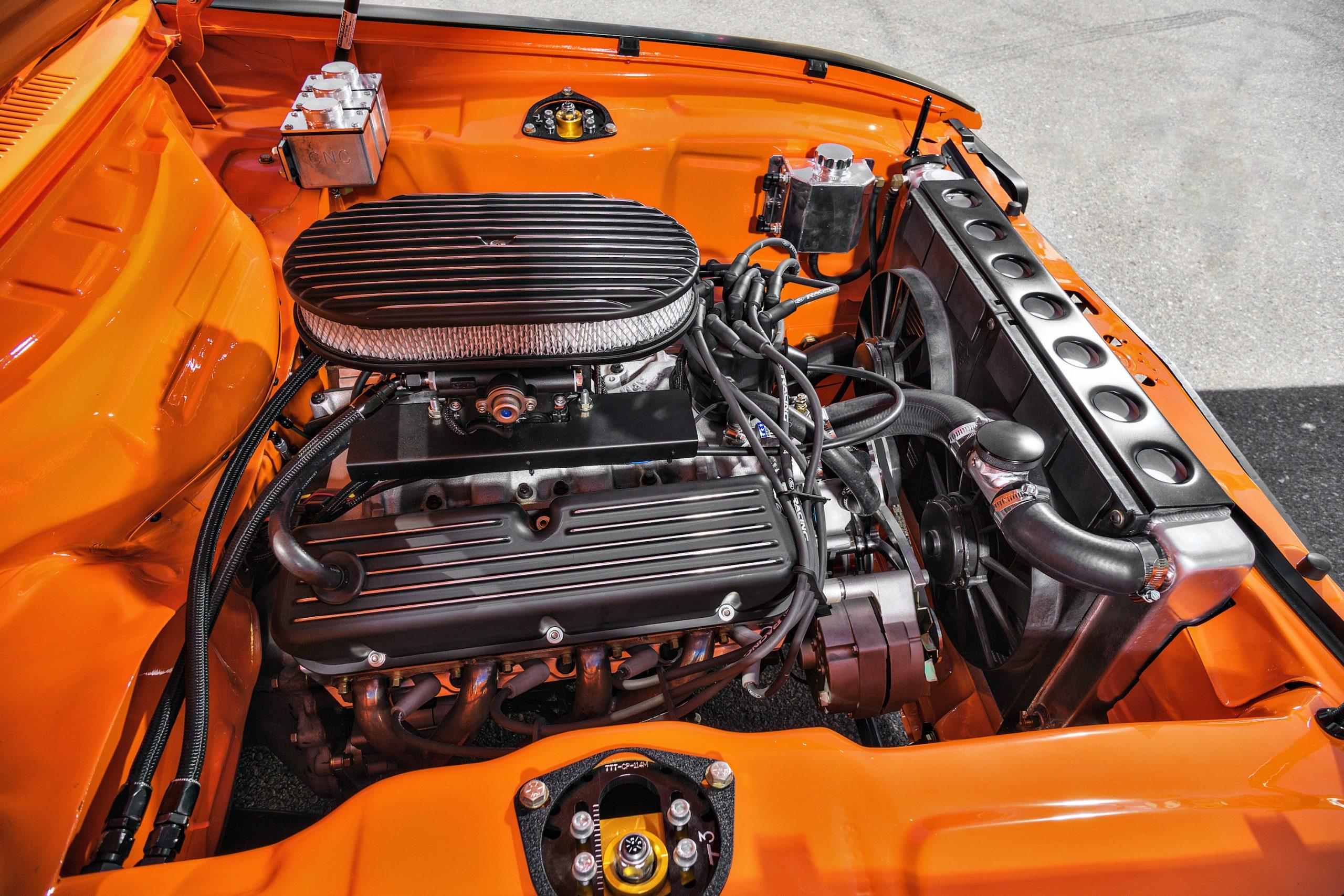 1974 Mk I Ford Capri restomod engine left