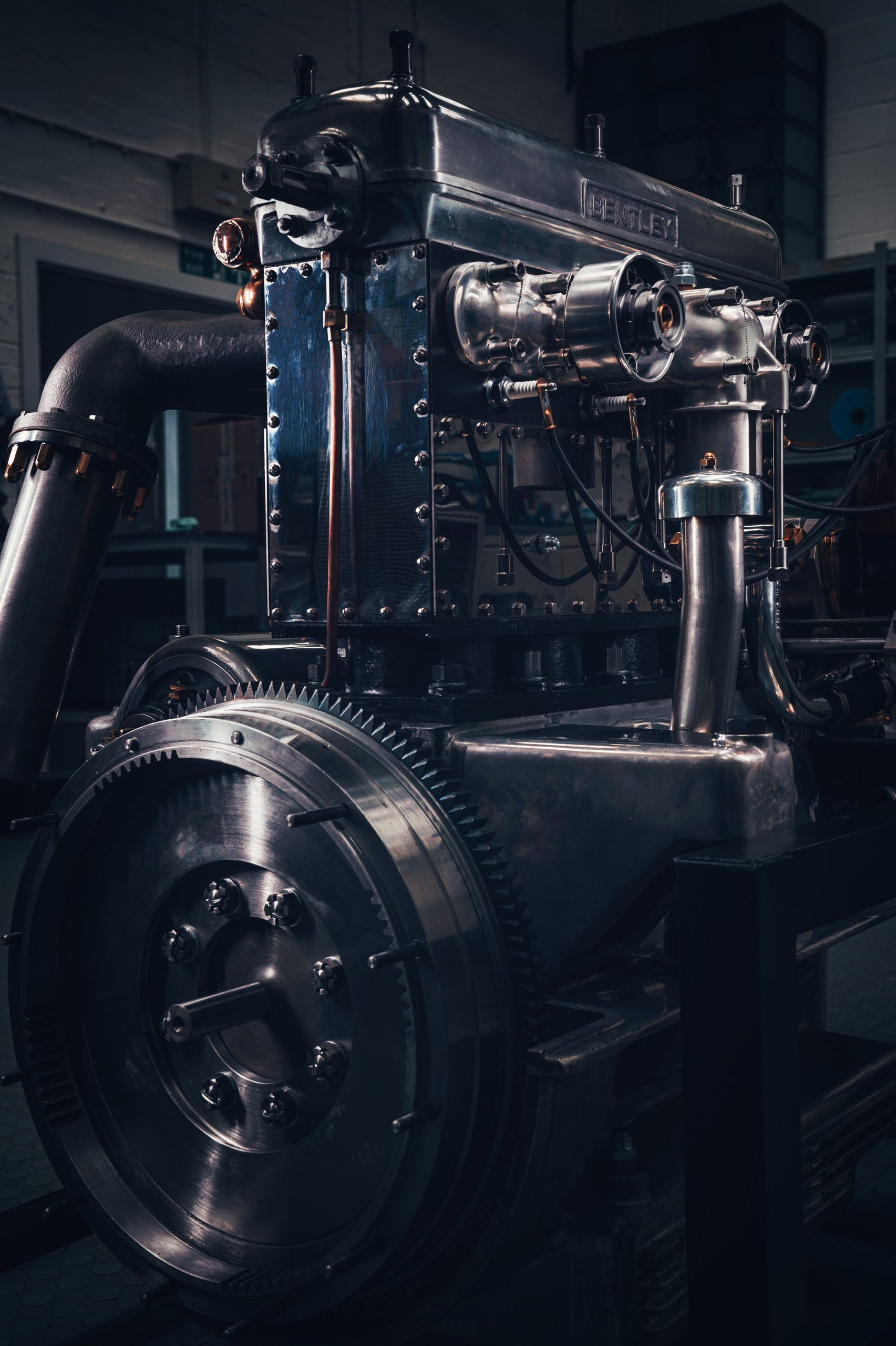 bentley blower continuation engine front three-quarter