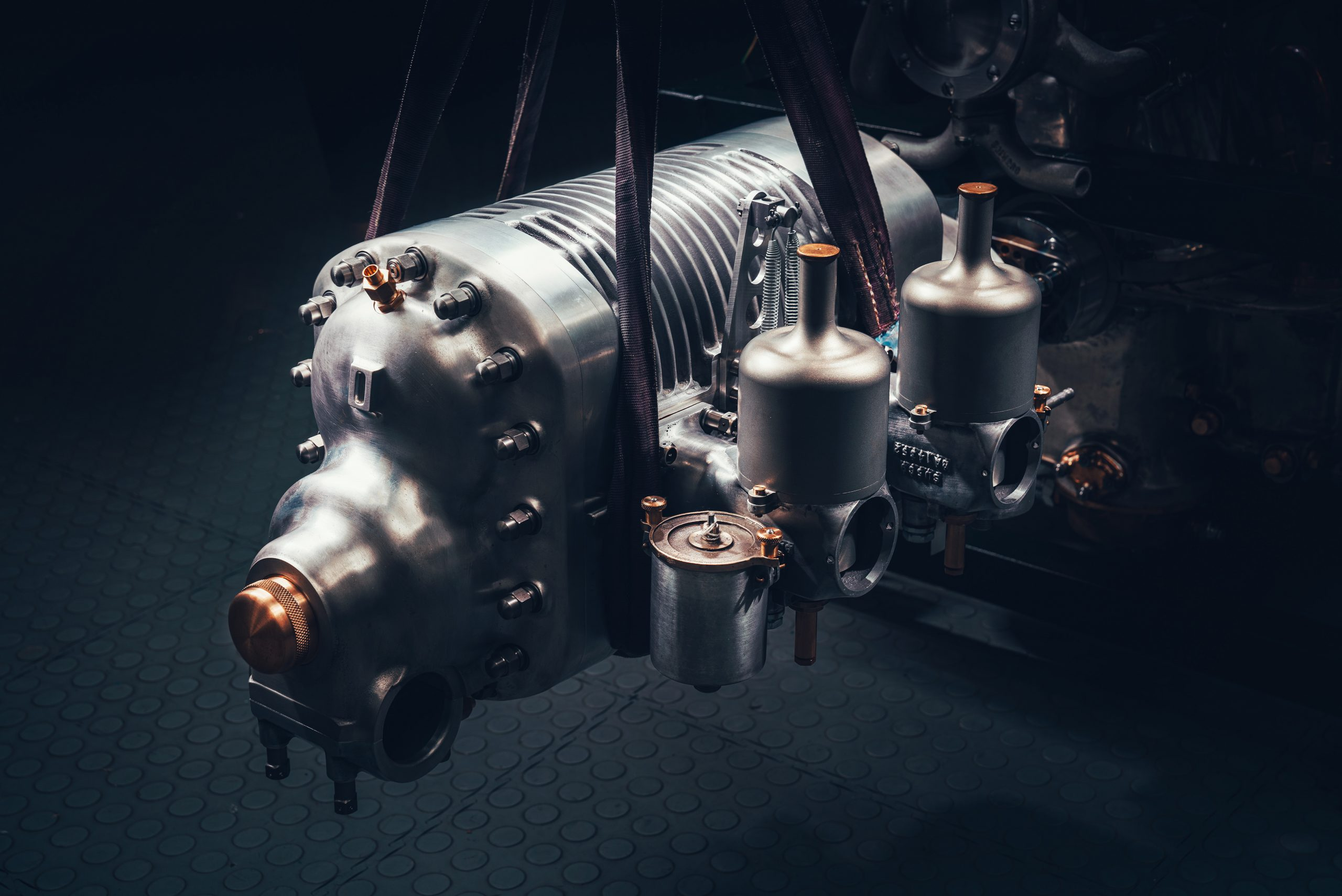 bentley blower continuation engine supercharger close up