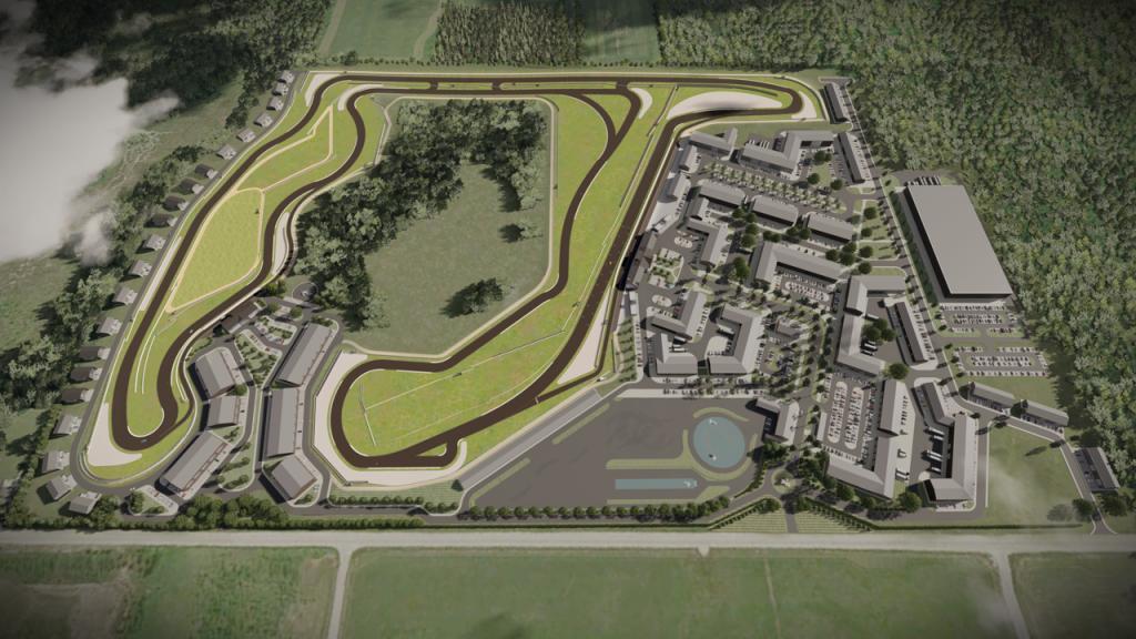 aerial CGI Oro Station Ontario Canada motorsports park