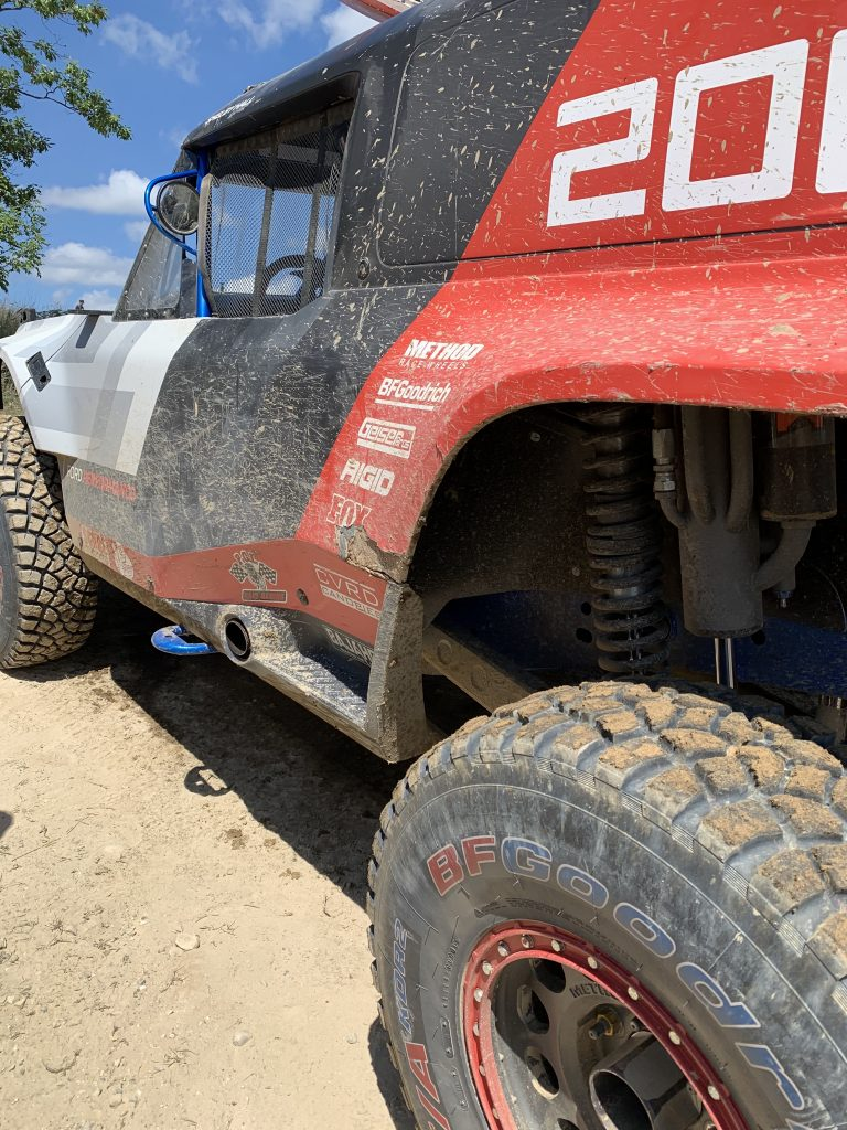 Bronco R fender damage dirty