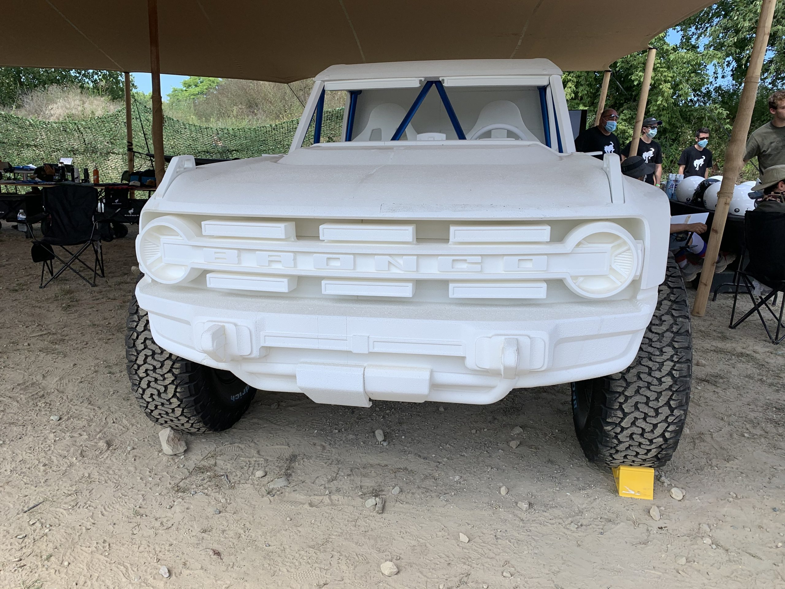 Bronco R styrofoam mock up model