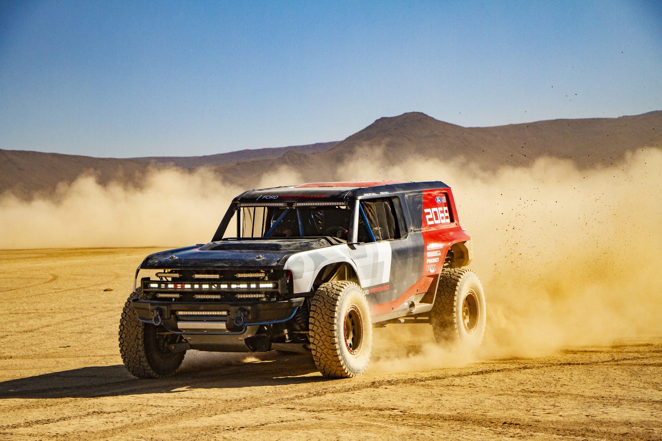 Ford Bronco R race prototype Baja desert