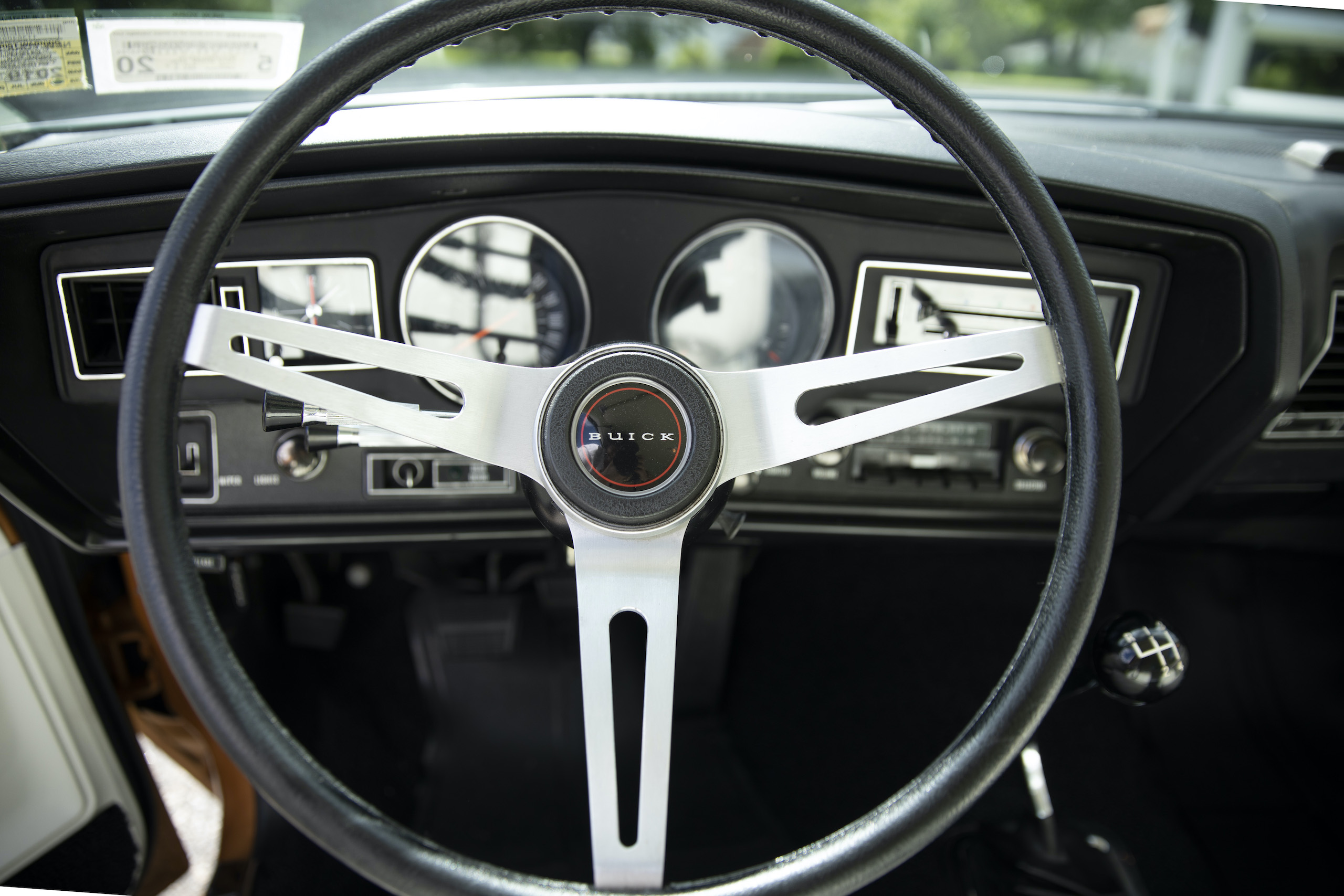 1973 Buick GS Stage 1 gran sport coupe steering wheel