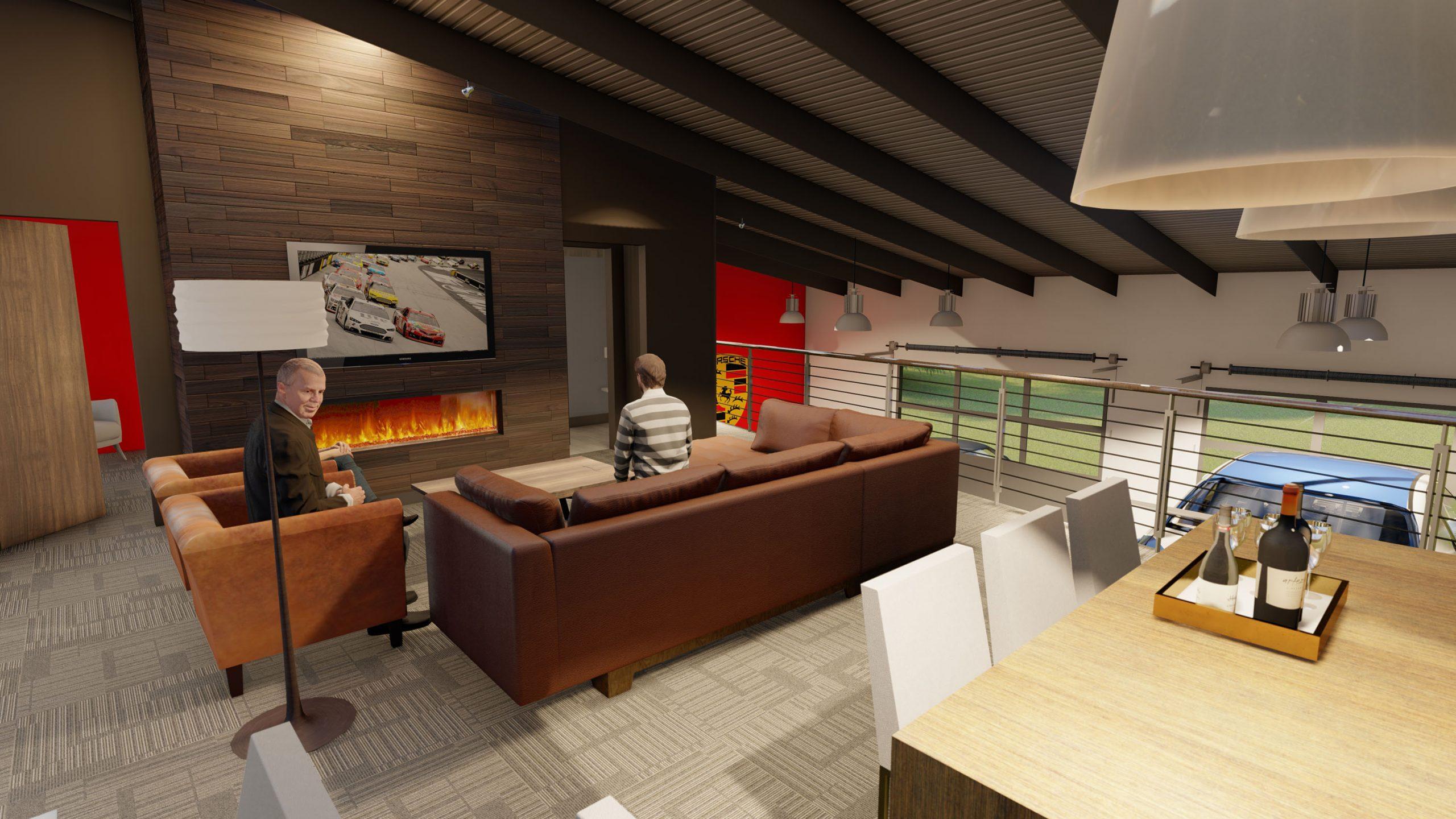 Autominiums condo rendering interior loft