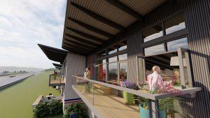 Autominiums condo rendering porch indoor outdoor living