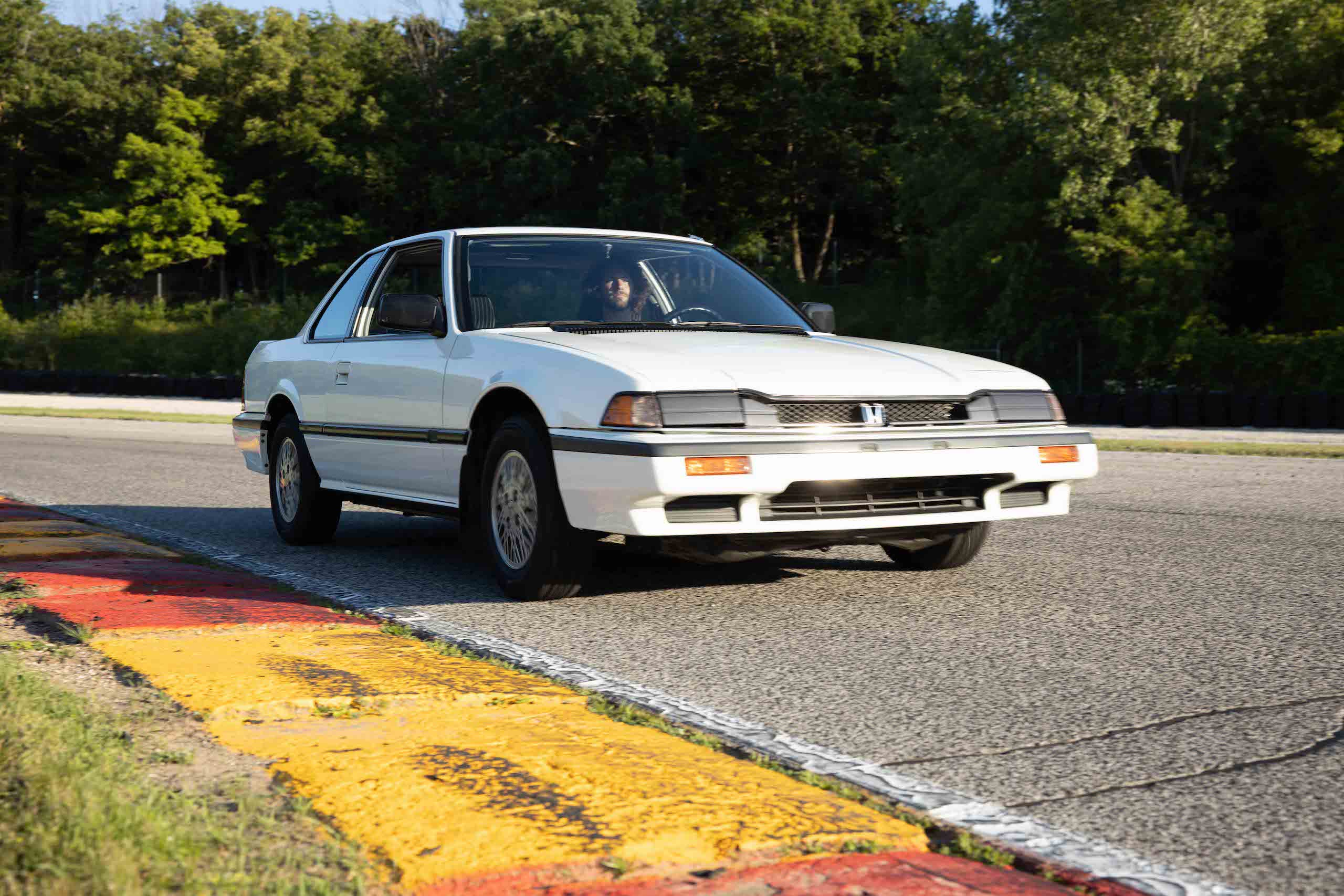 gen 2 honda prelude front three-quarter dynamic track action