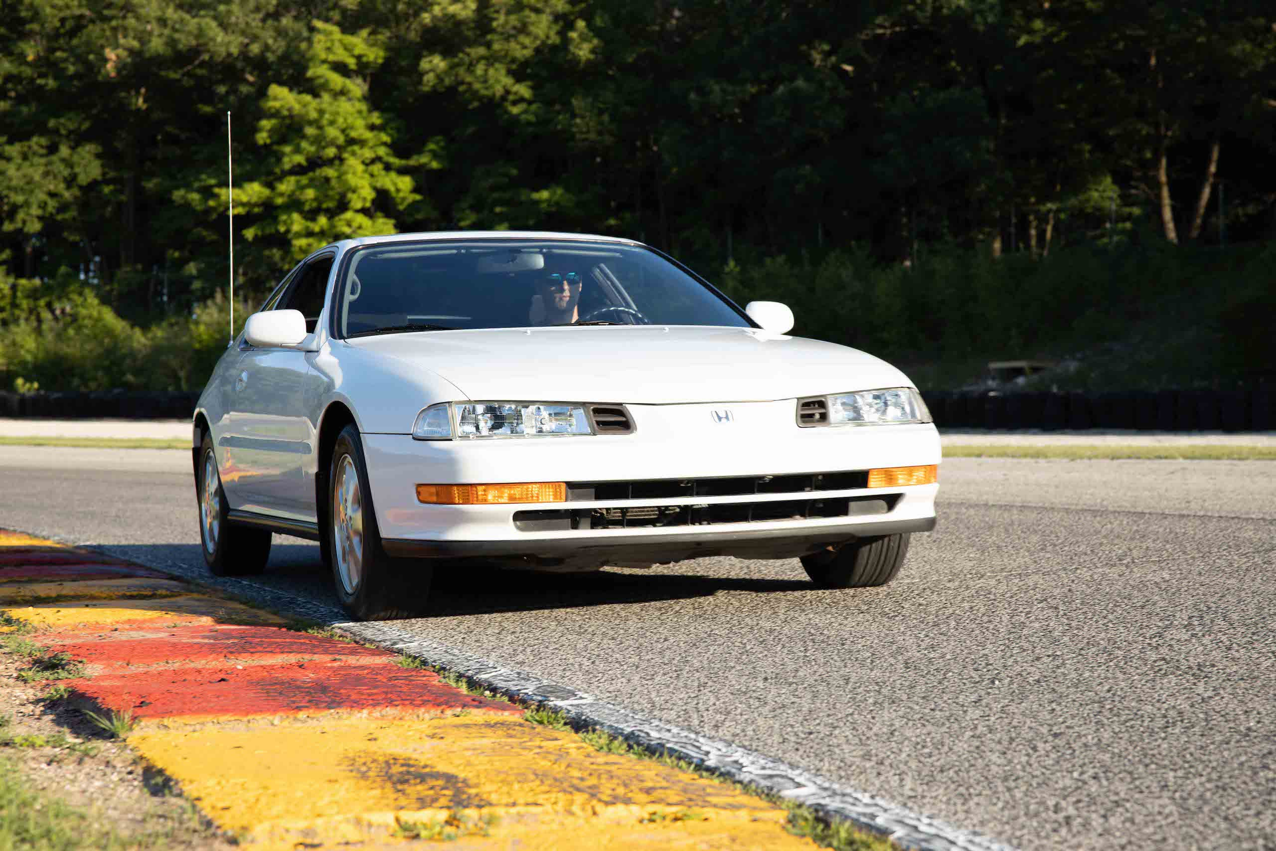 gen 4 honda prelude front three-quarter dynamic track action