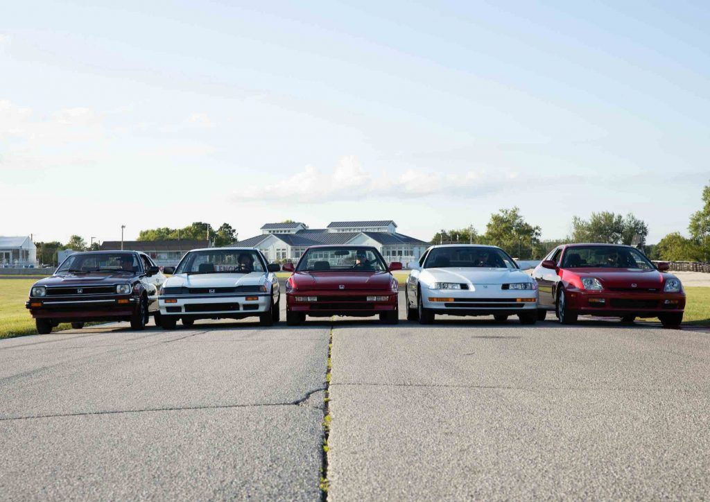 honda prelude generations together front