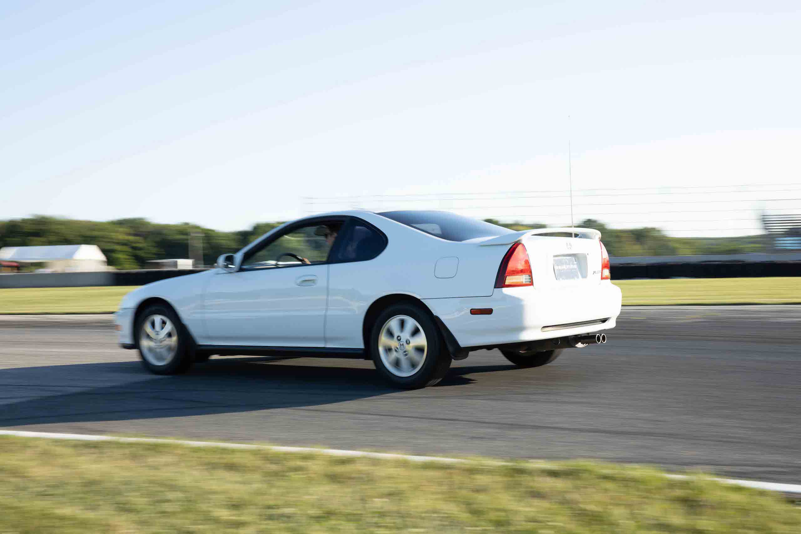 gen 4 honda prelude rear three-quarter dynamic track action