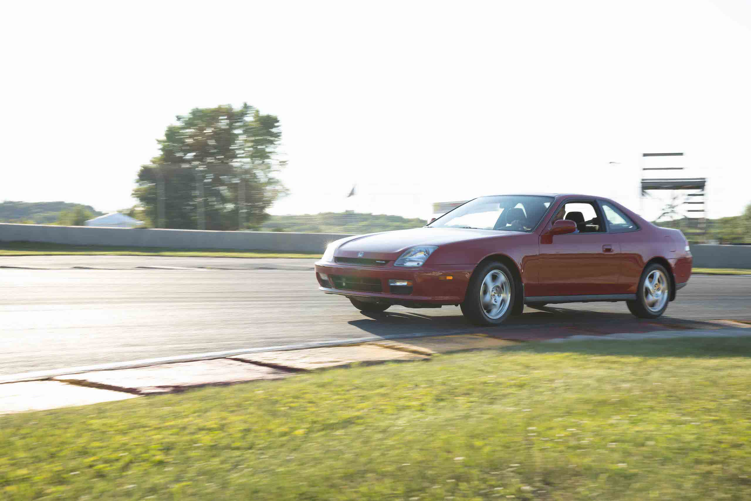 gen 5 honda prelude front three-quarter dynamic track action