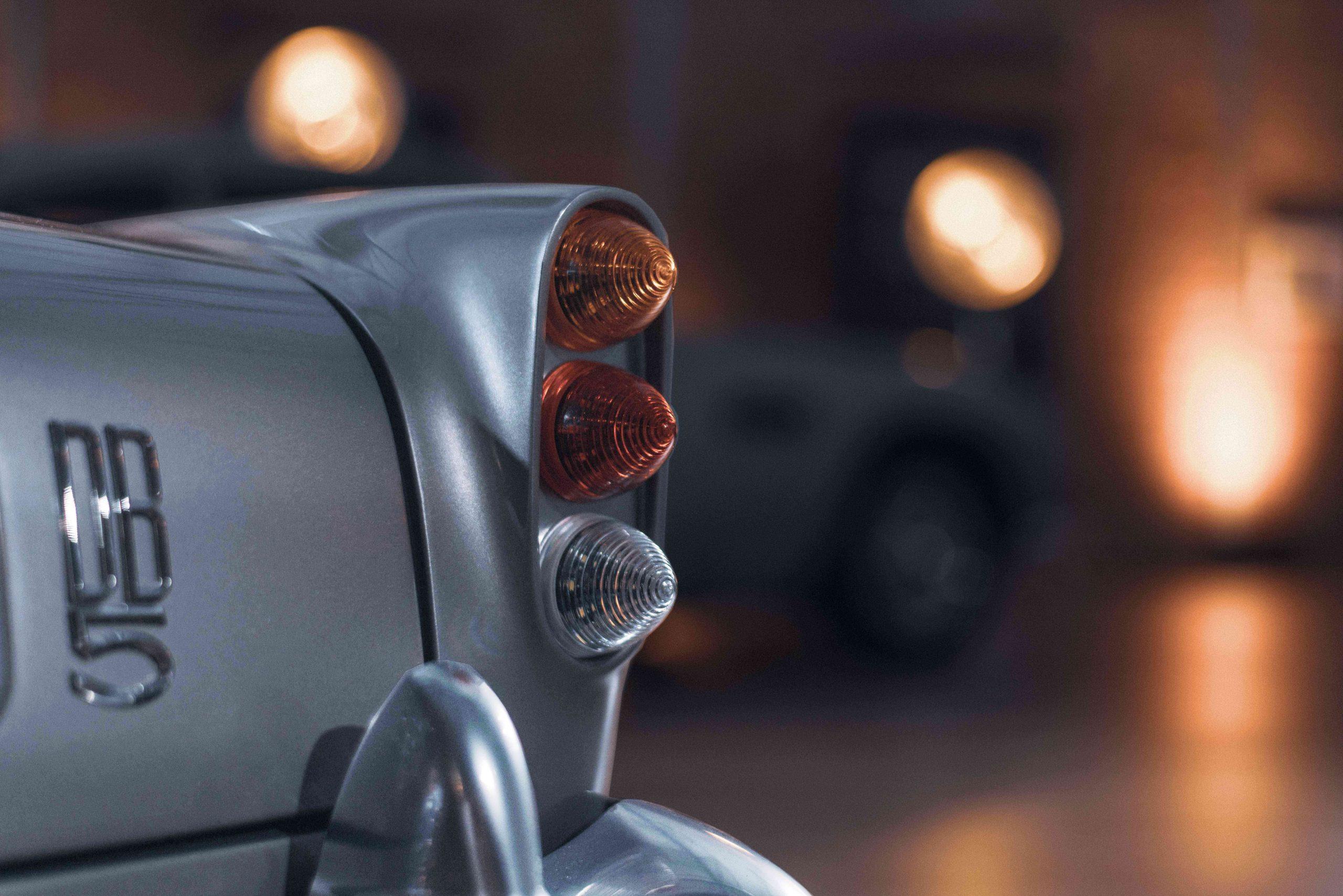 Aston Martin DB5 Junior Hero rear badge detail