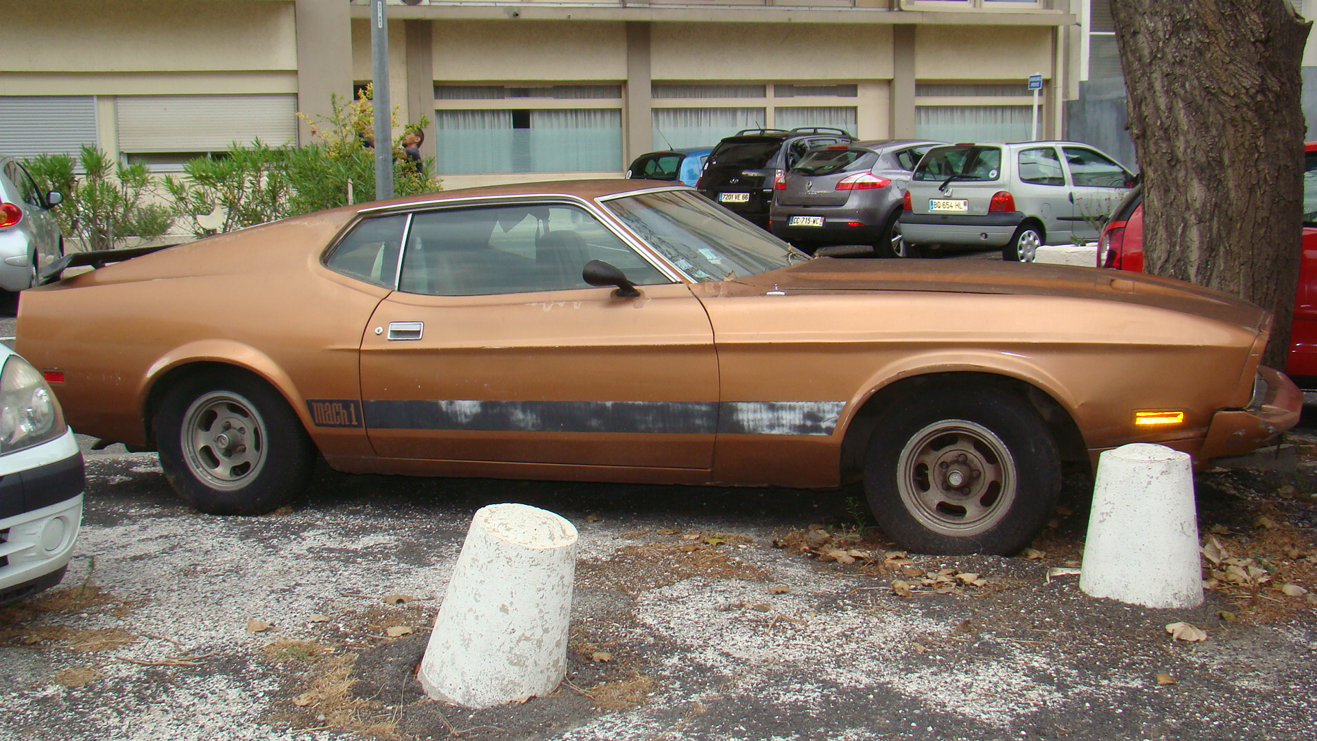 1973 Ford Mustang Mach 1 profile pre restoration France