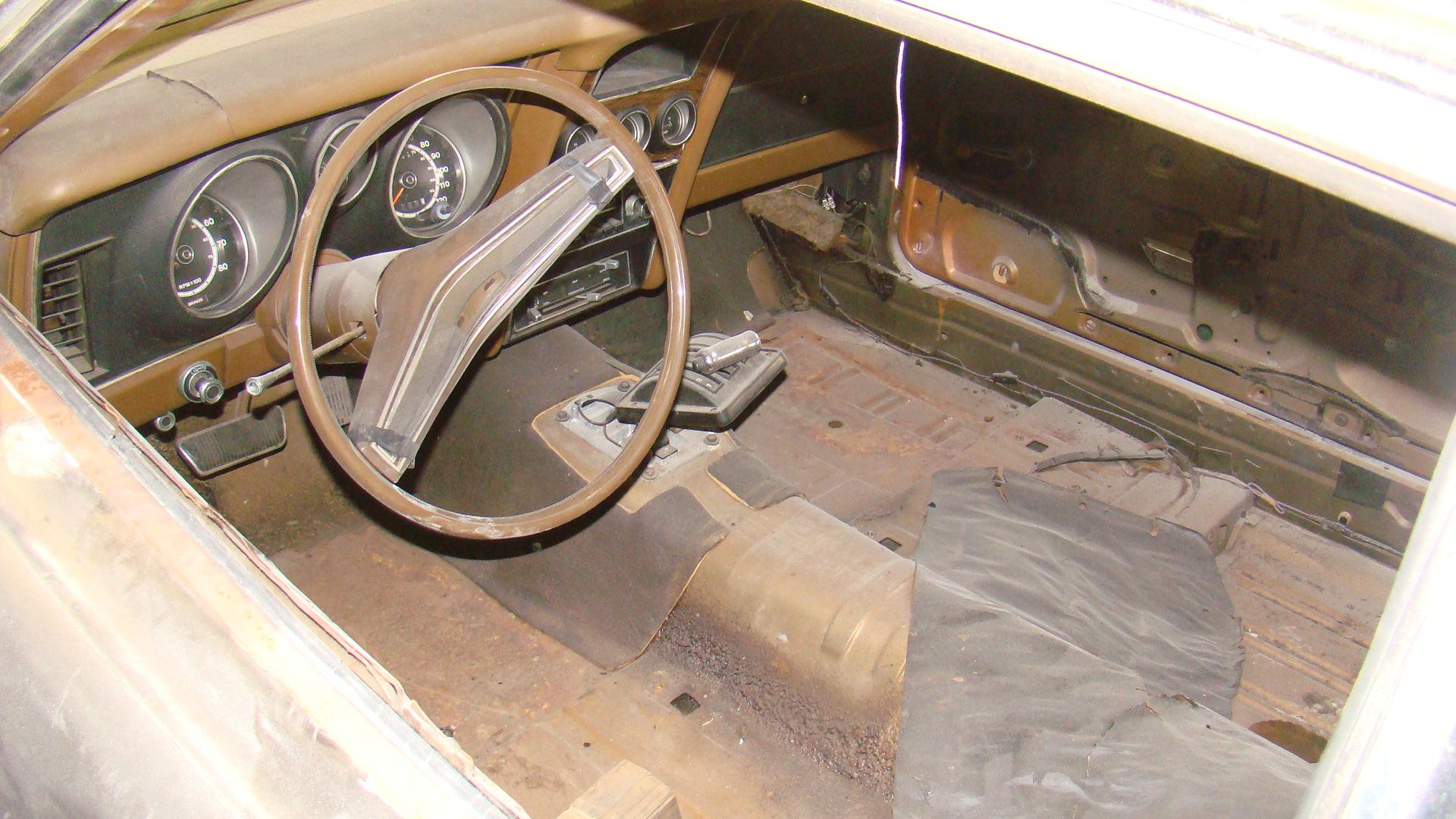 1973 Ford Mustang Mach 1 interior stripped restoration