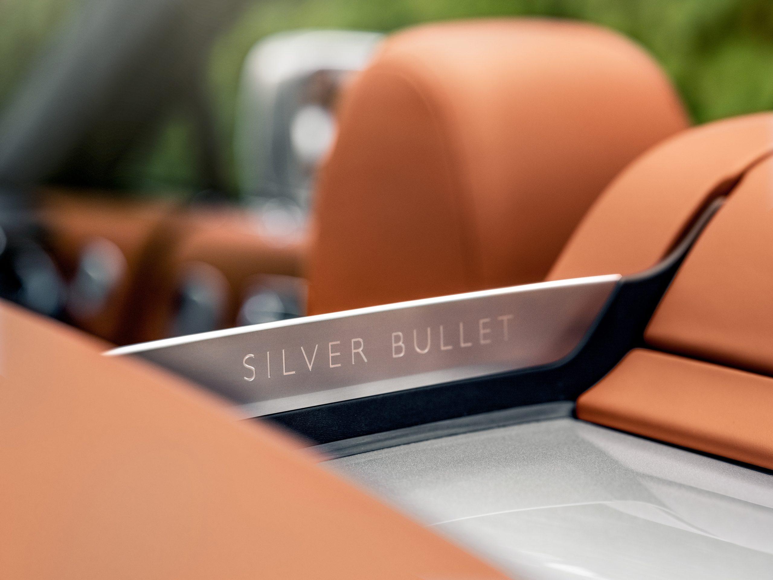 Rolls-Royce Dawn Silver Bullet Aero Cowling Name Angle