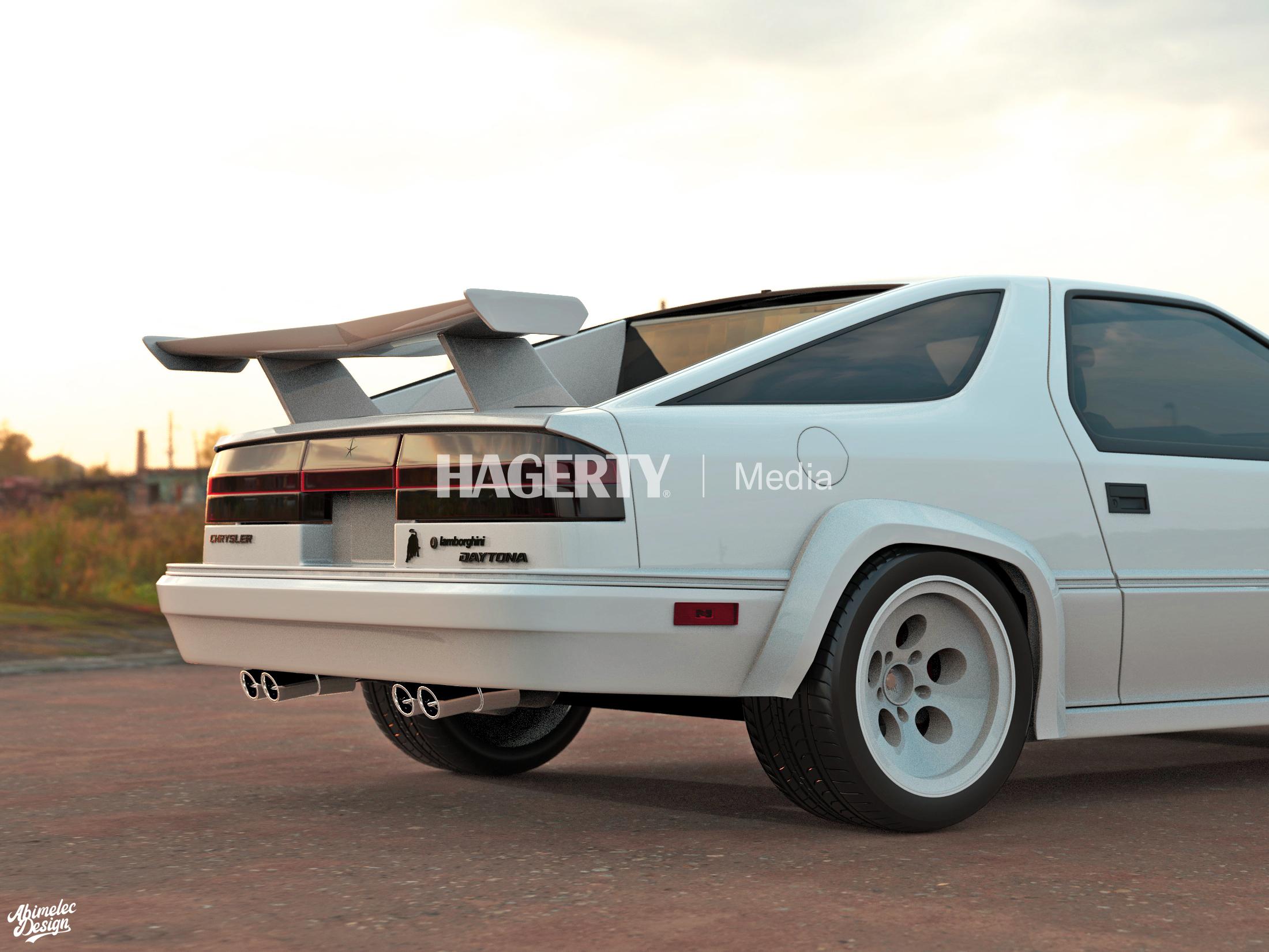 Dodge Daytona by Lamborghini rear detail