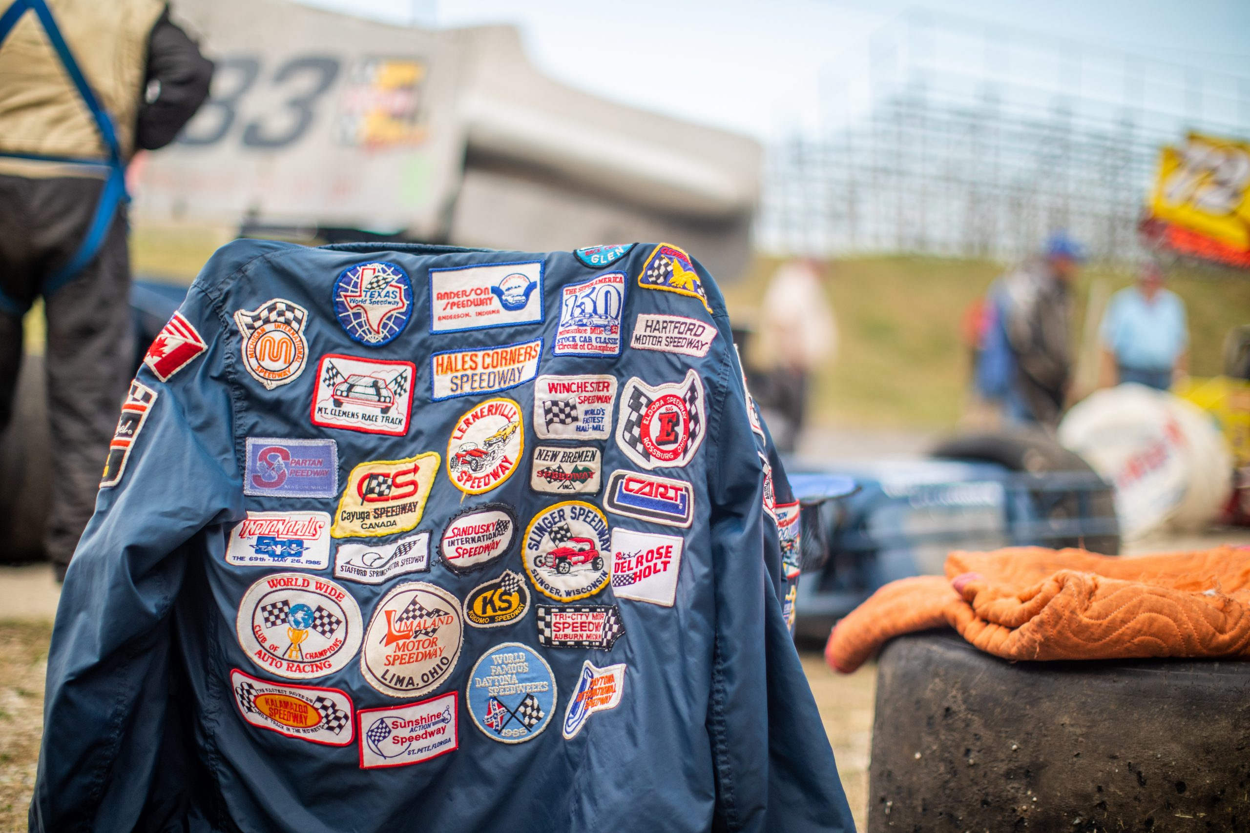 racing patches on jacket